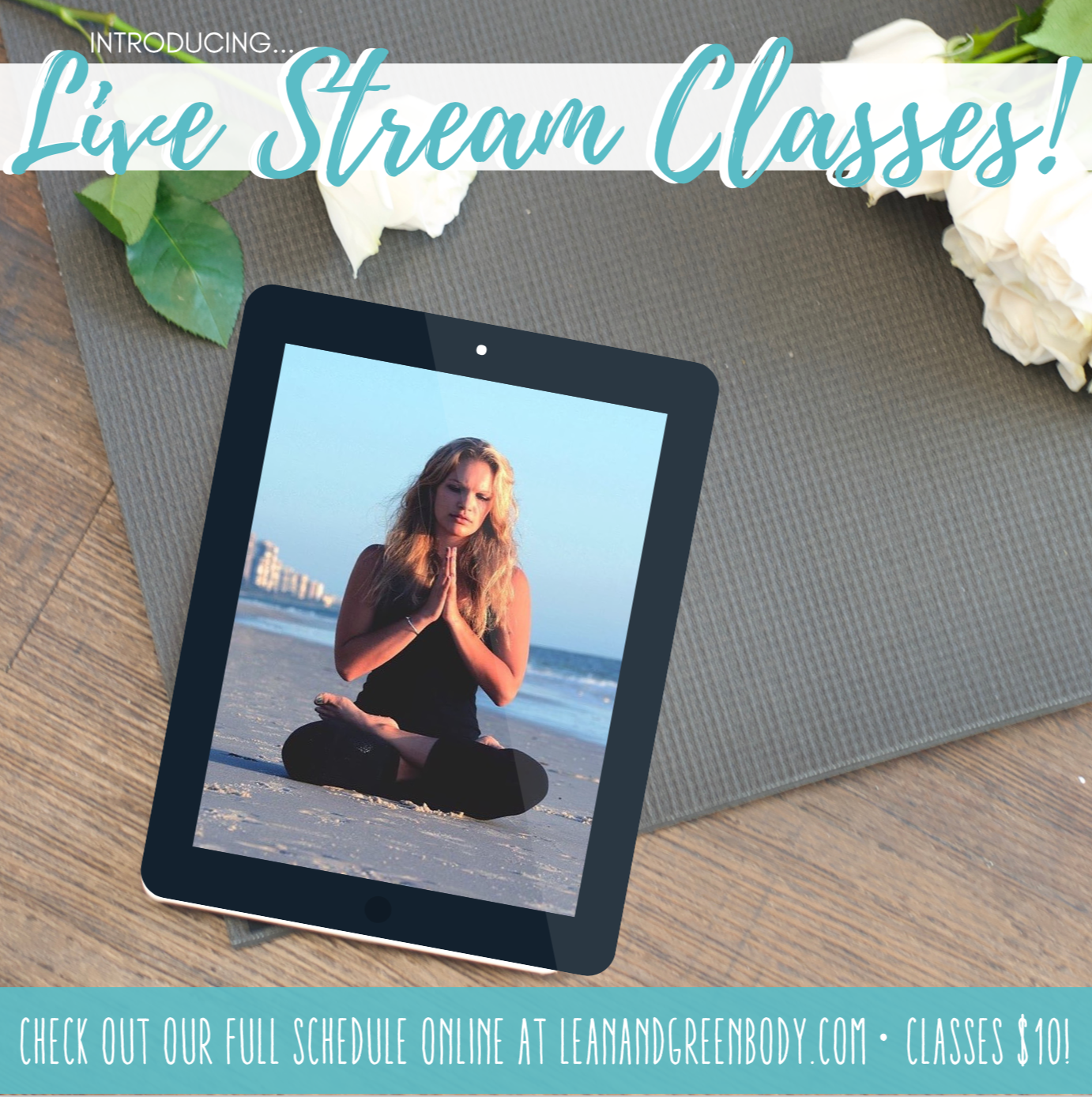 Live Stream Yoga Class | Lean and Green Body®
