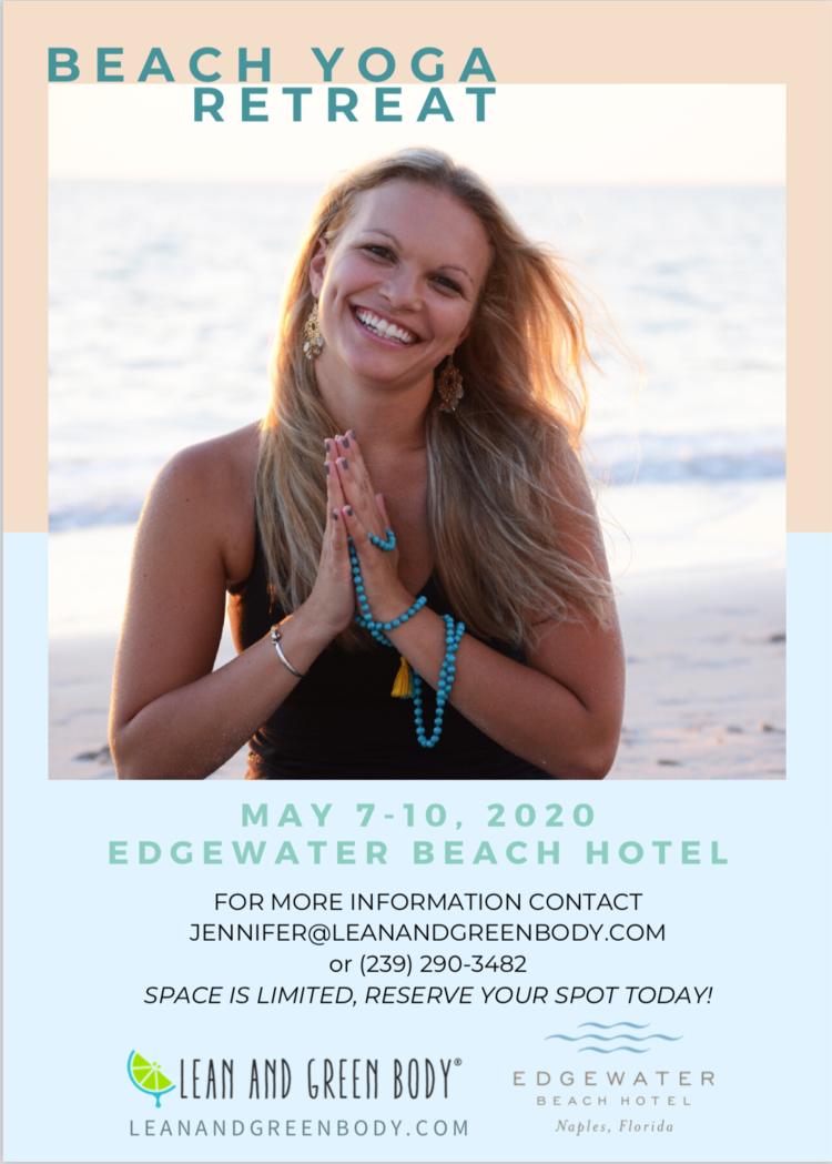 May 2020 Beach Yoga Retreat Lean And Green Body Naples Fl Holistic Nutrition Personal Training Yoga