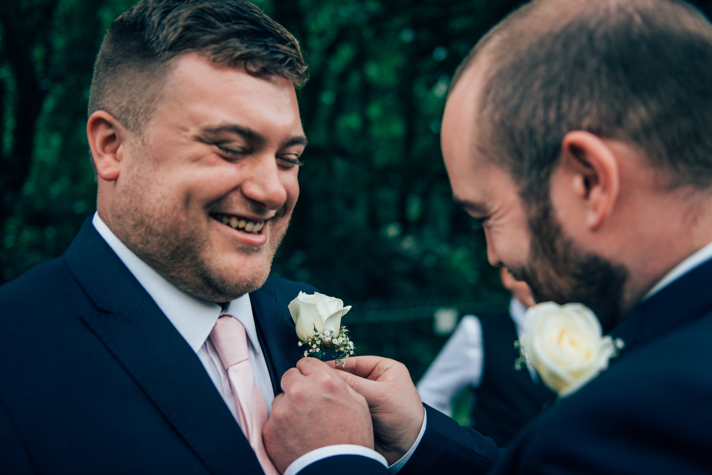 Groom and Best Man with Boutonniere