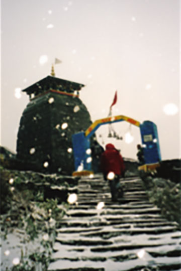 The final ascent to the temple.