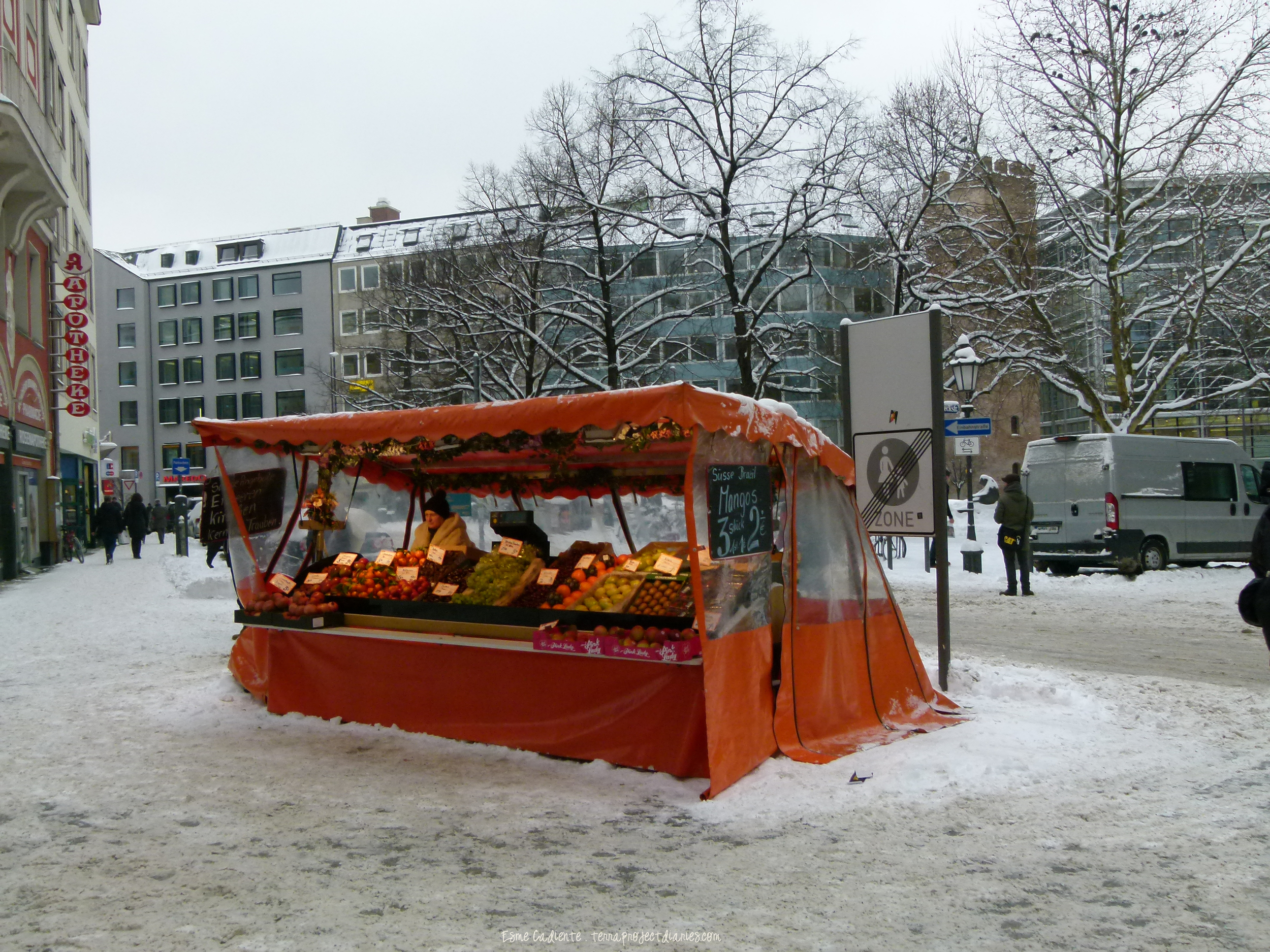Winter fruitstand, Germany