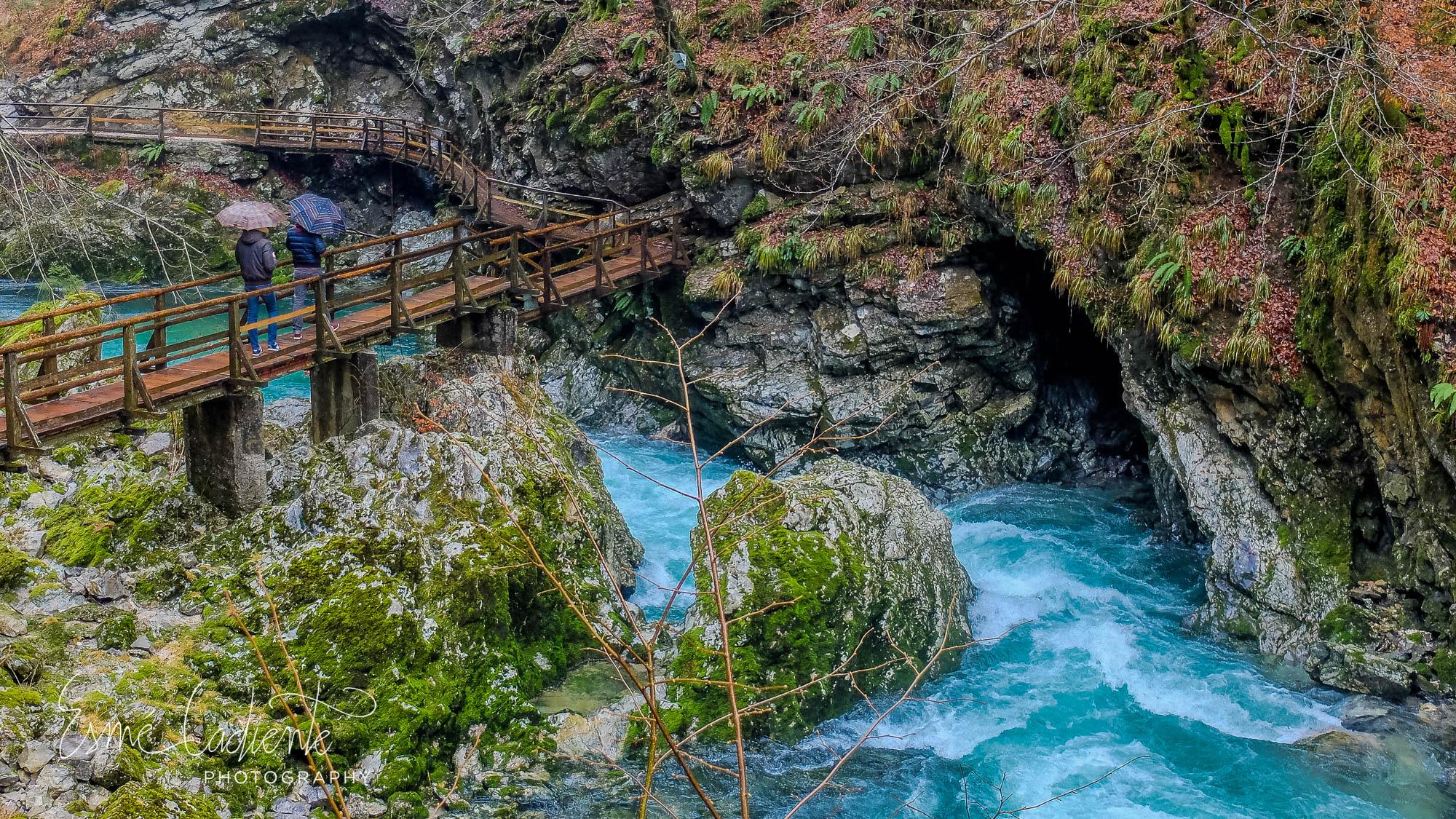 Blejski Vintgar, a natural gorge born from the turquoise river Radovna.