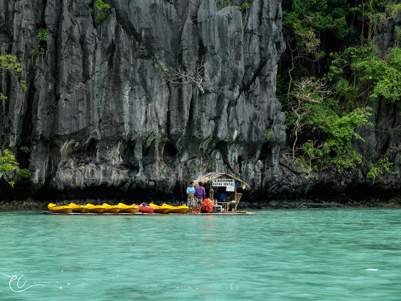 We were able to get on the water for one day before water traffic was grounded. El Nido, Palawan