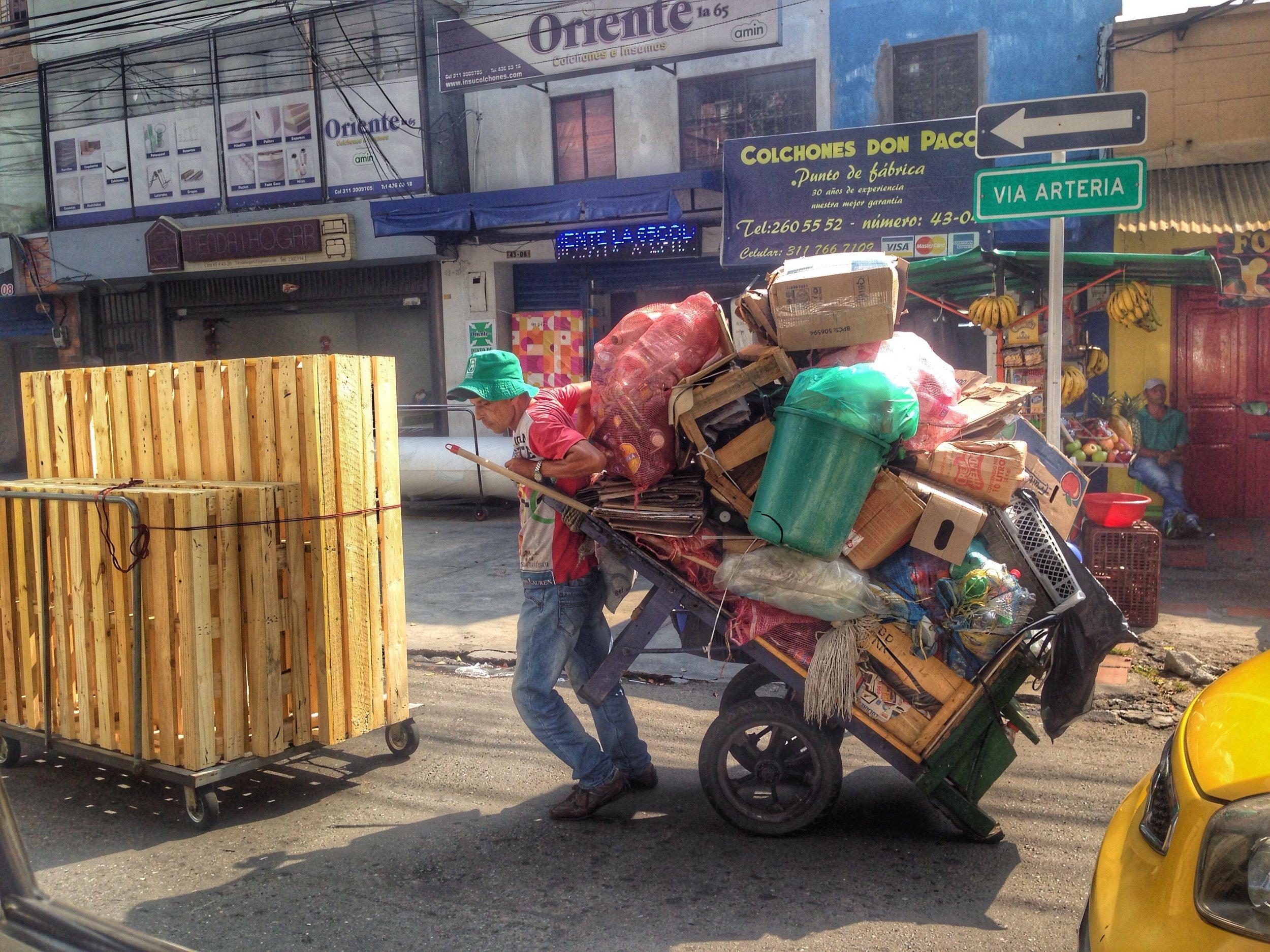 Trash day, Medellin
