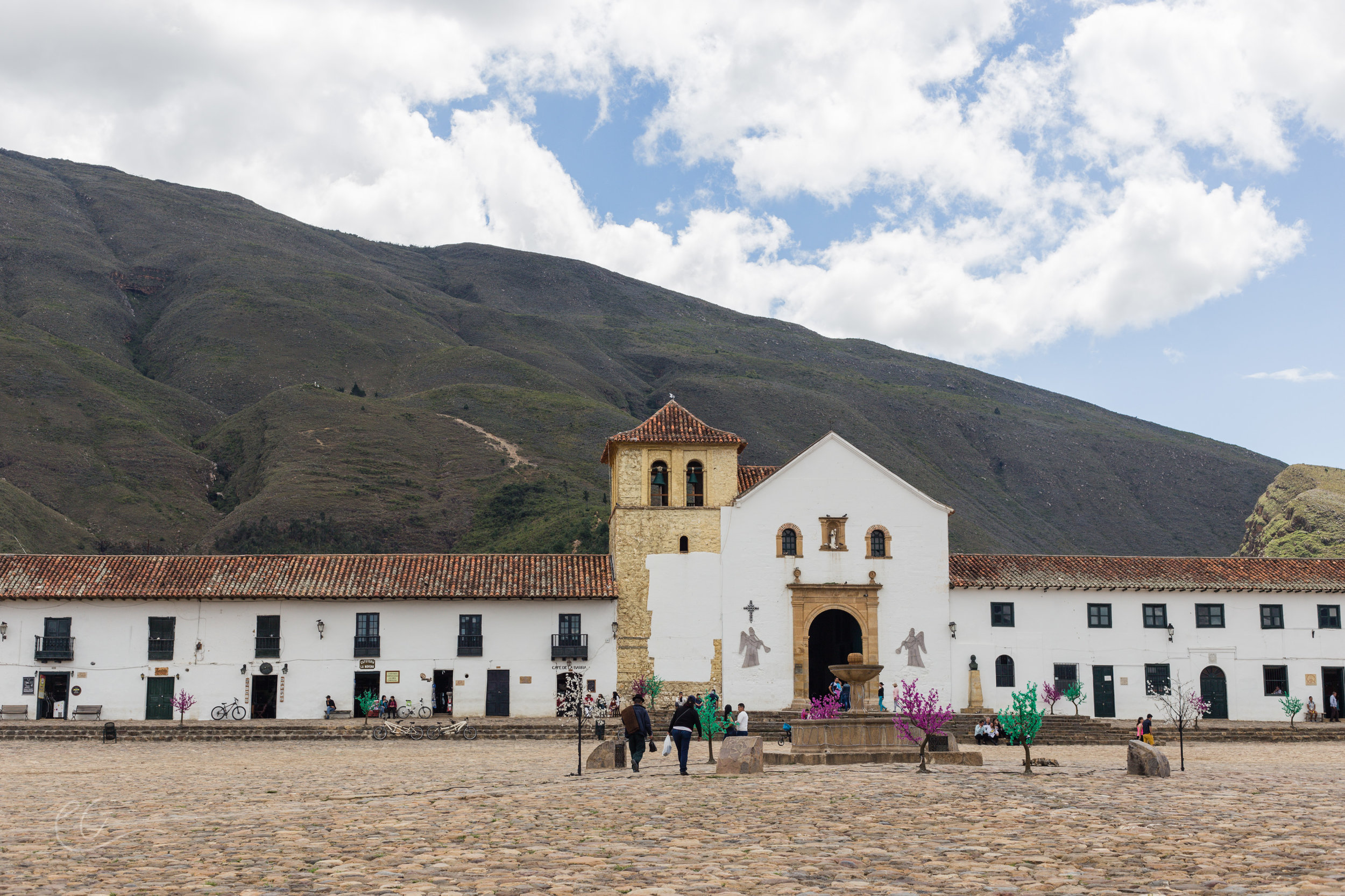The largest plaza in South America, Villa De Leyva, Colombia
