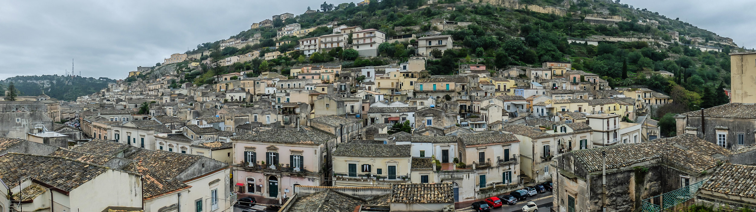 The hillside town of Modica, Italy
