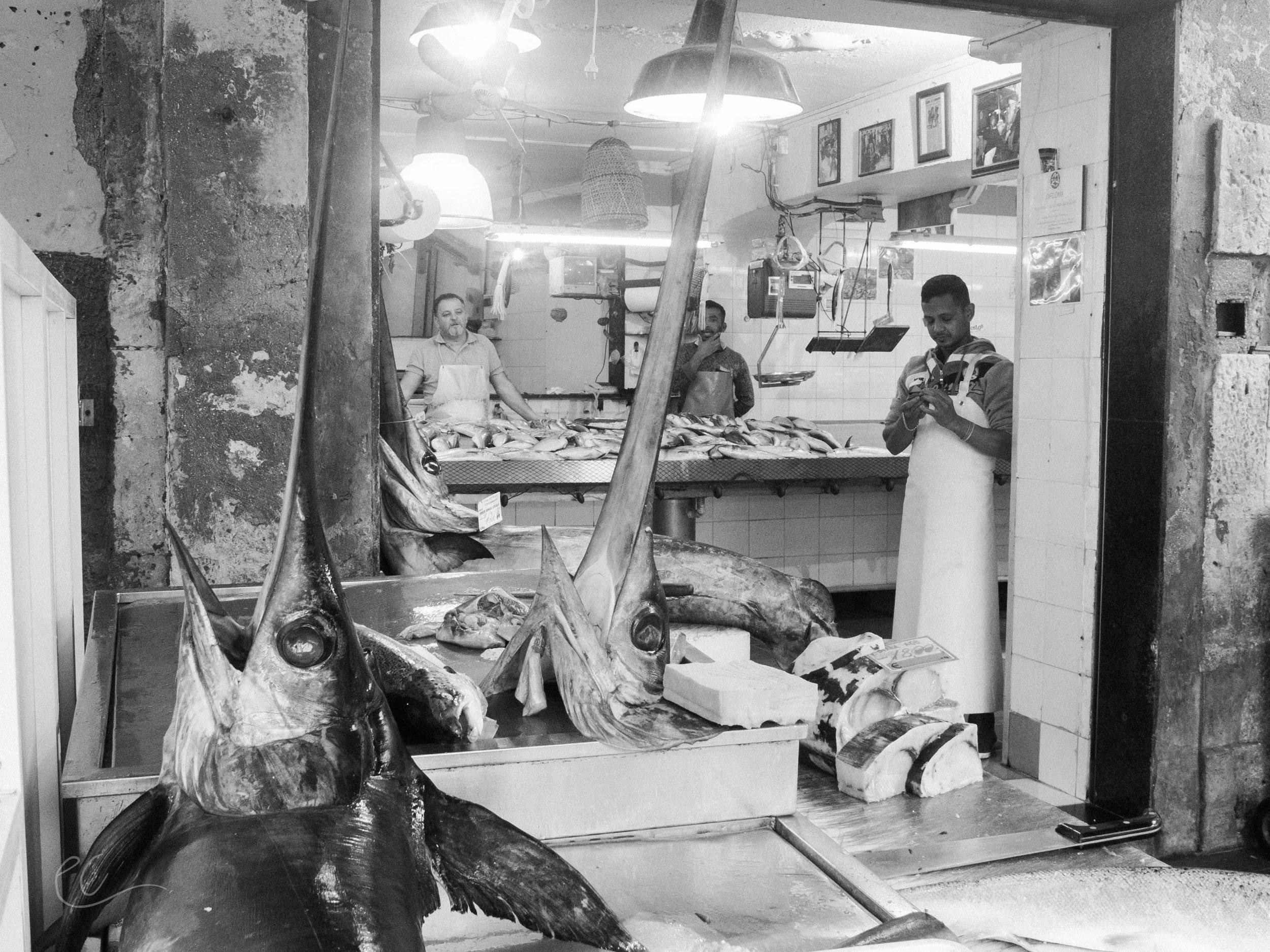 Fish market, Syracuse.
