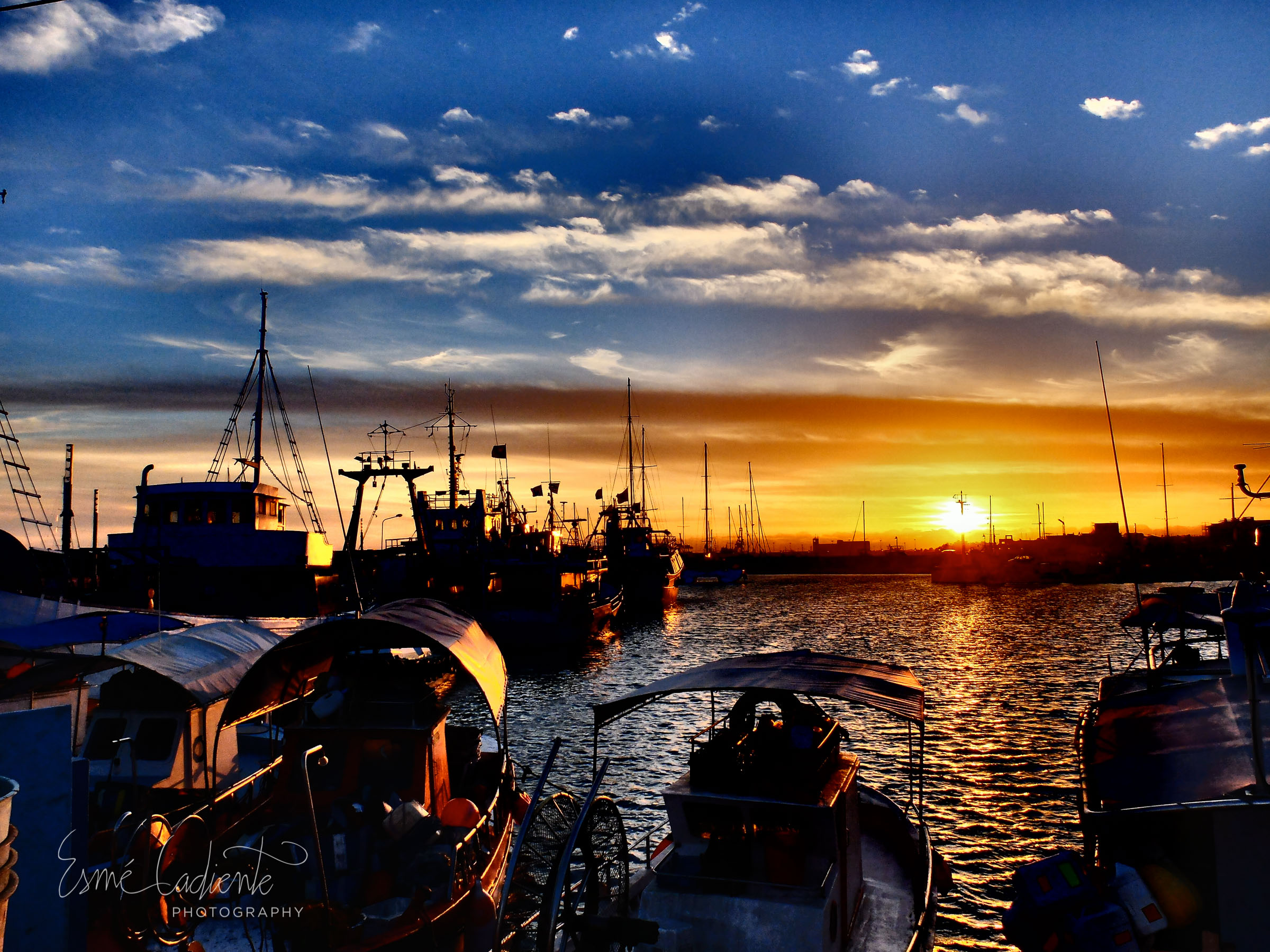 Larnaca Harbor.