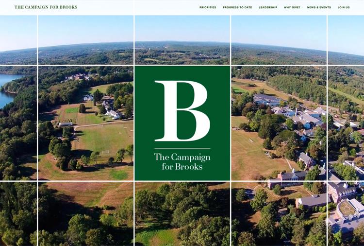 Brooks School capital campaign micro-site
