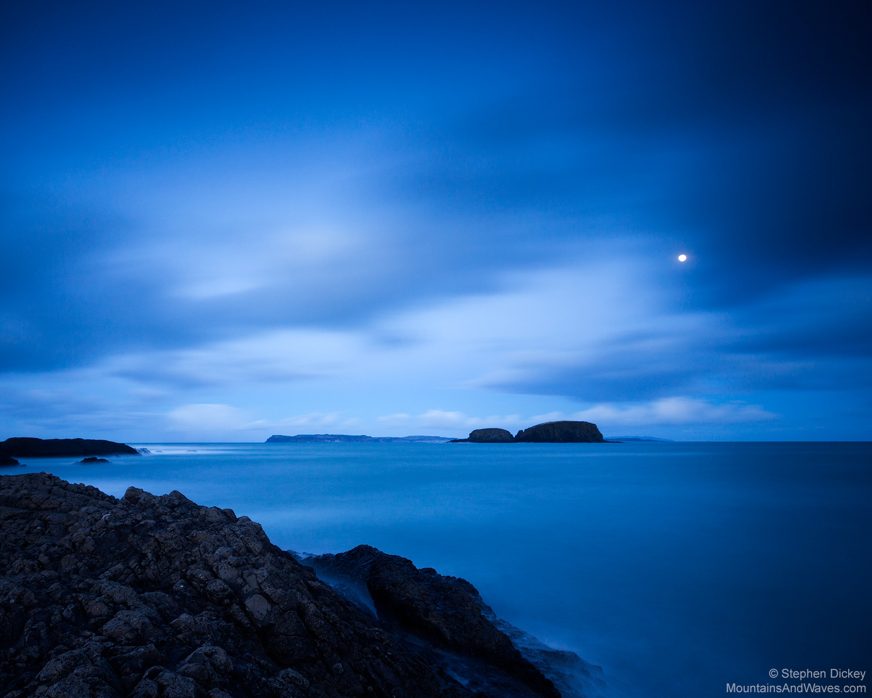 Ballintoy Twilight, County Antrim, Northern Ireland