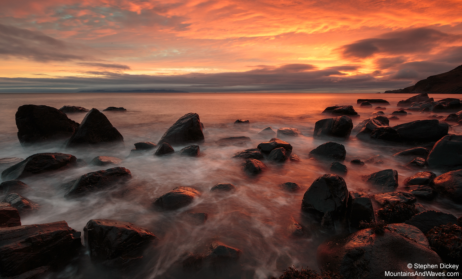 Murlough Bay, County Antrim - Northern Ireland Landscape Photography by Stephen Dickey  Canon 6D, Canon 16-35mm f2.8 L II @ 16mm, 15s @ f16, ISO 100,  Lee 1.2 soft-edge graduated neutral density filter, Manfrotto tripod