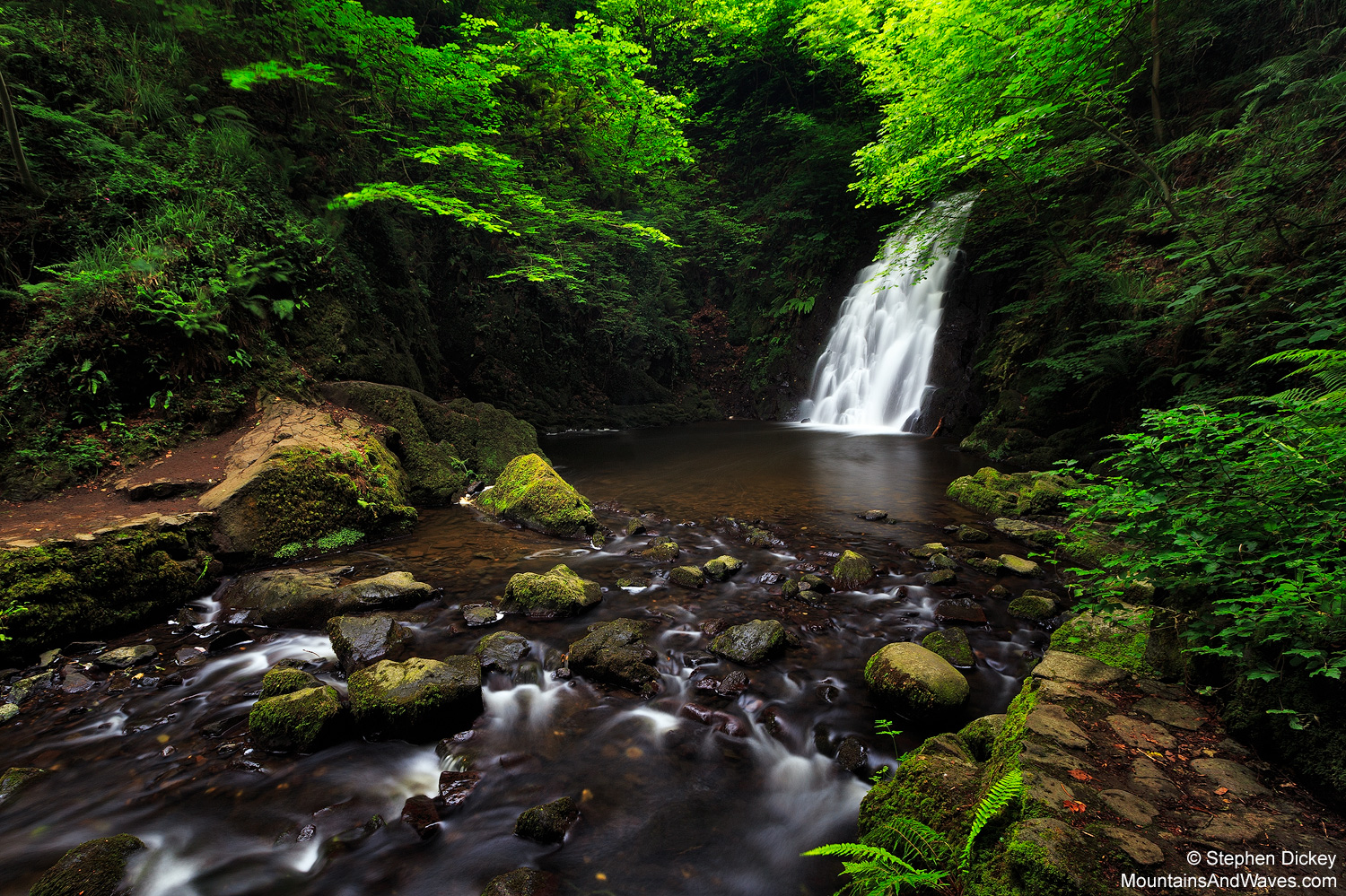 Glenariff Waterfall, County Antrim, Northern Ireland