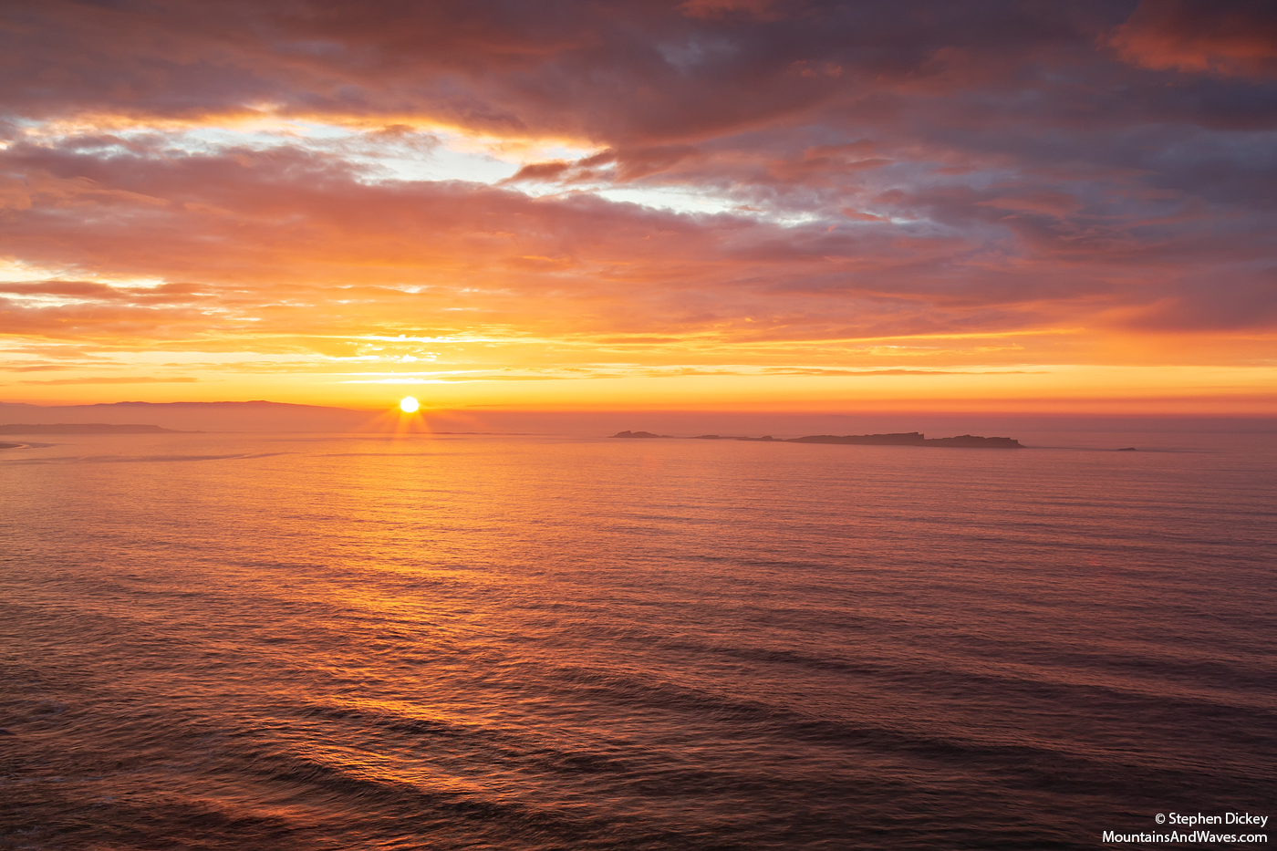 Sunset Over the Skerries, Northern Ireland