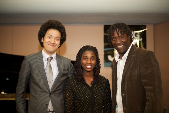(from left to right) Ryoju Fukushiro, E'vana & Felix Perez-Diaz
