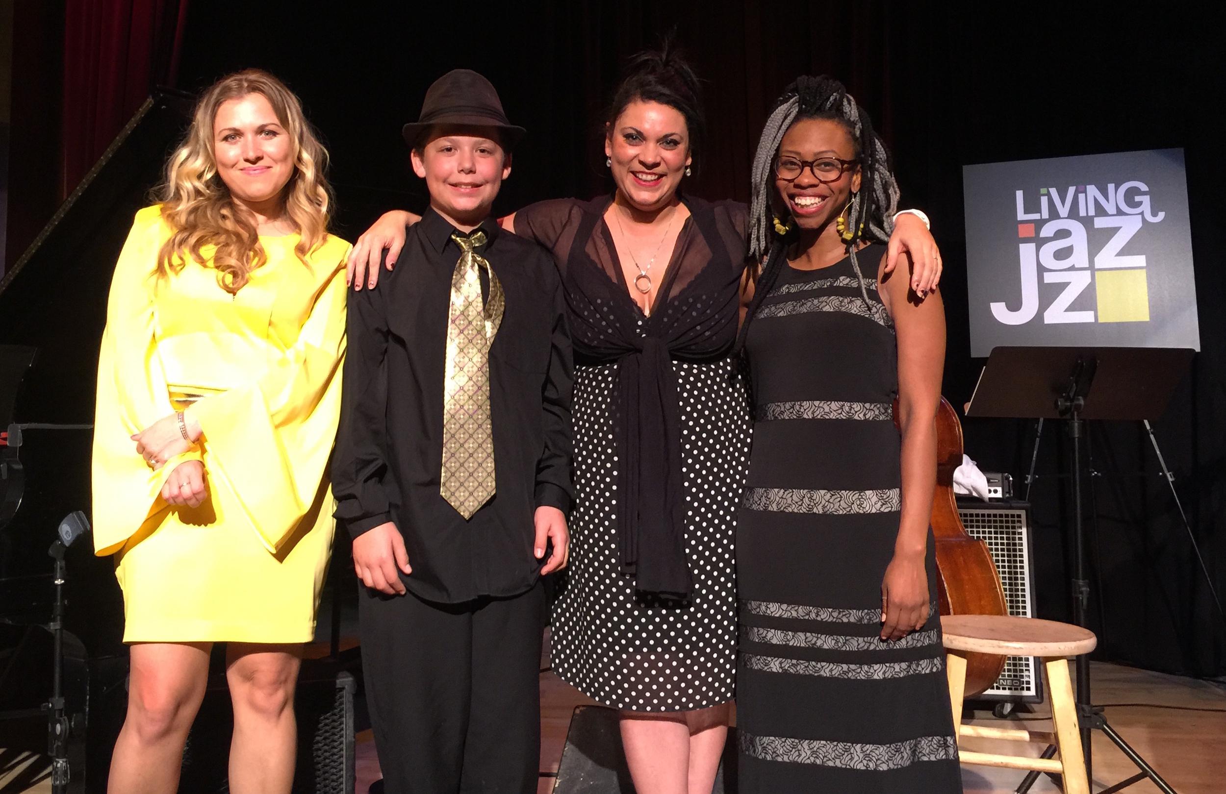 (from left to right) Katerina Brown, Isaiah Harwood, Courtenay Washington & Jasmine Seapoe