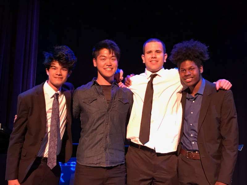 (from left to right) Max Nierlich, Shimpei Ogawa, Michael Echaniz & Genius Wesley
