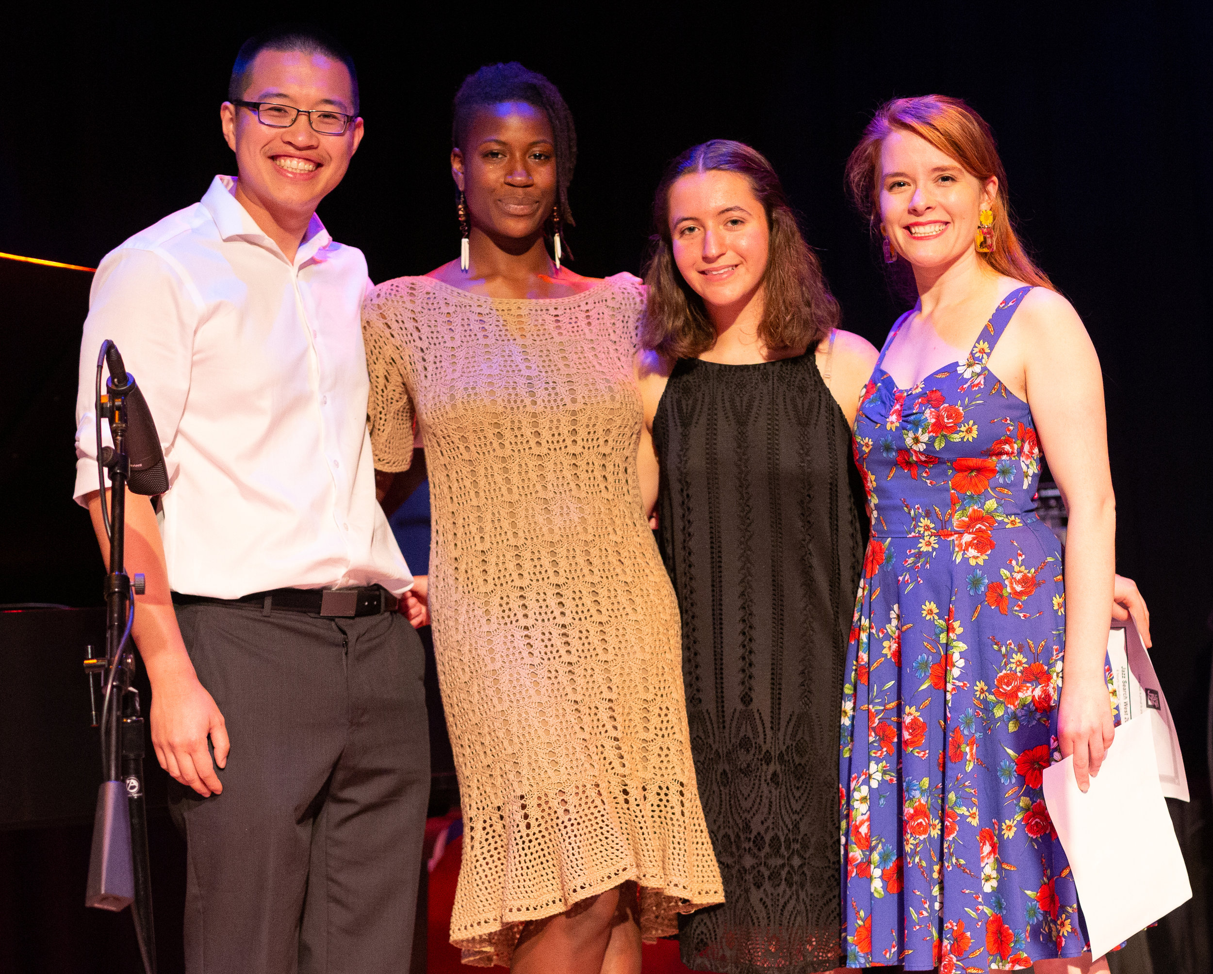 (from left to right) Charles Chen, Cristen Spencer, Hannah Mayer and Rebecca Holtz