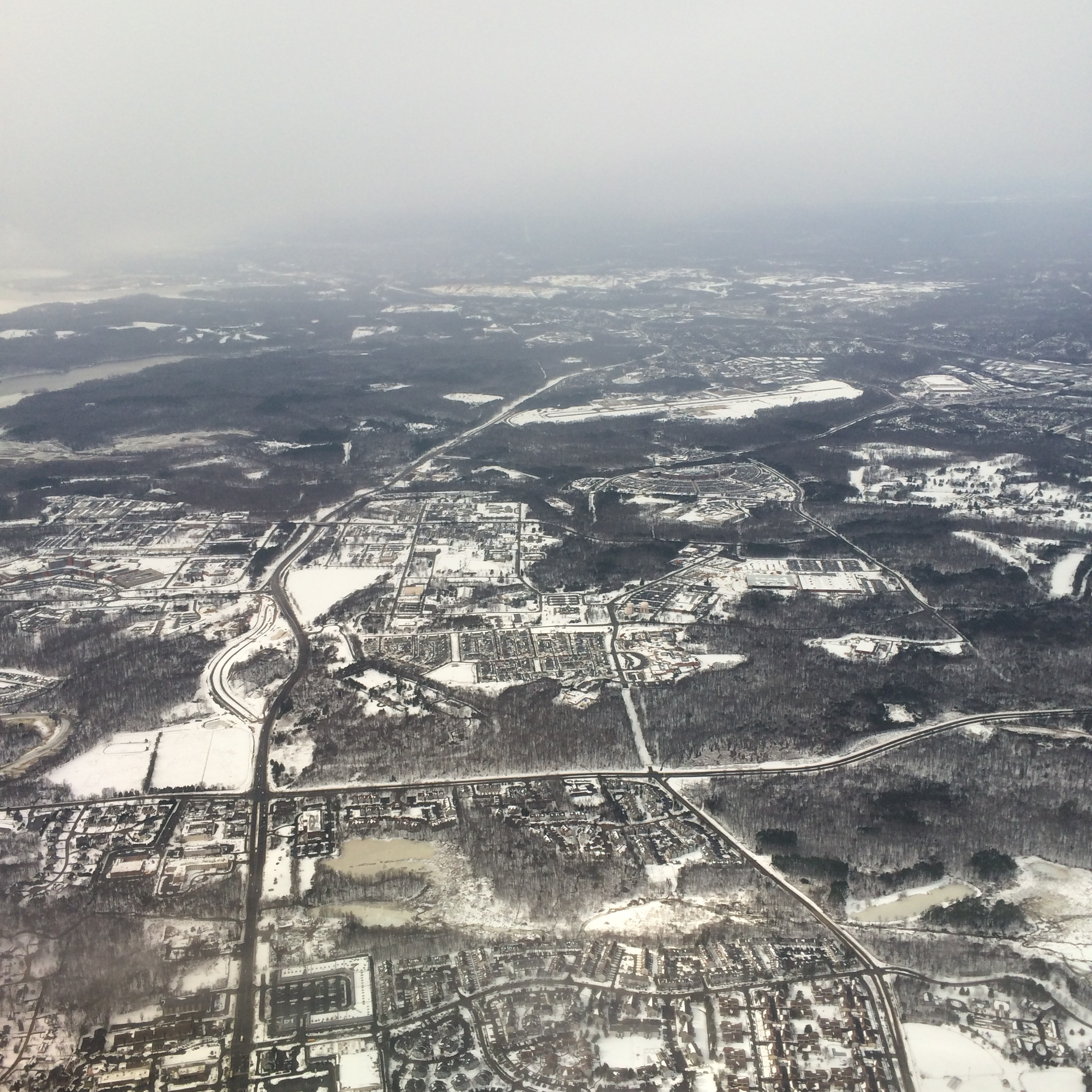 I flew through DC... look at all that SNOW !