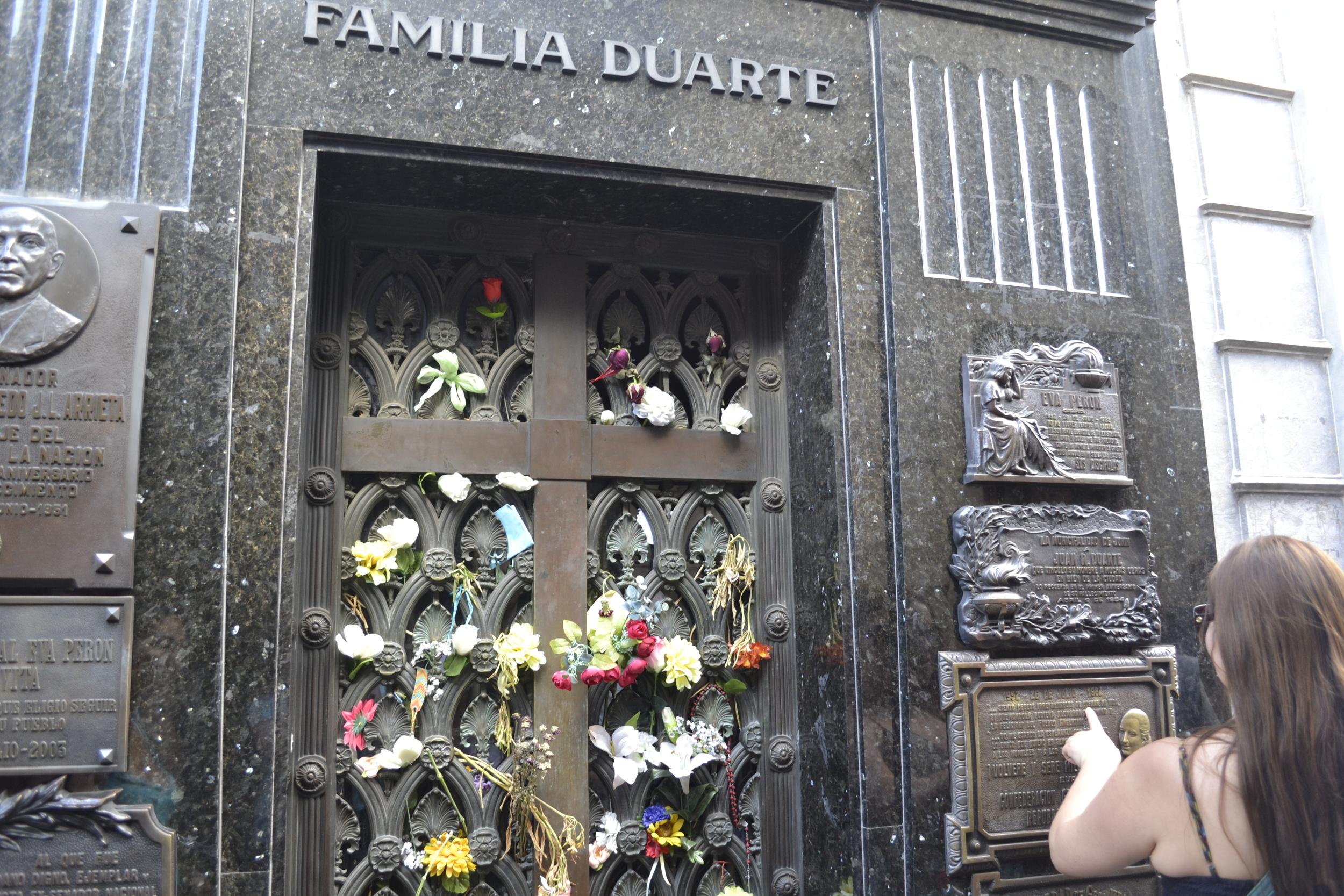 The tomb of Eva Perón (!!!)
