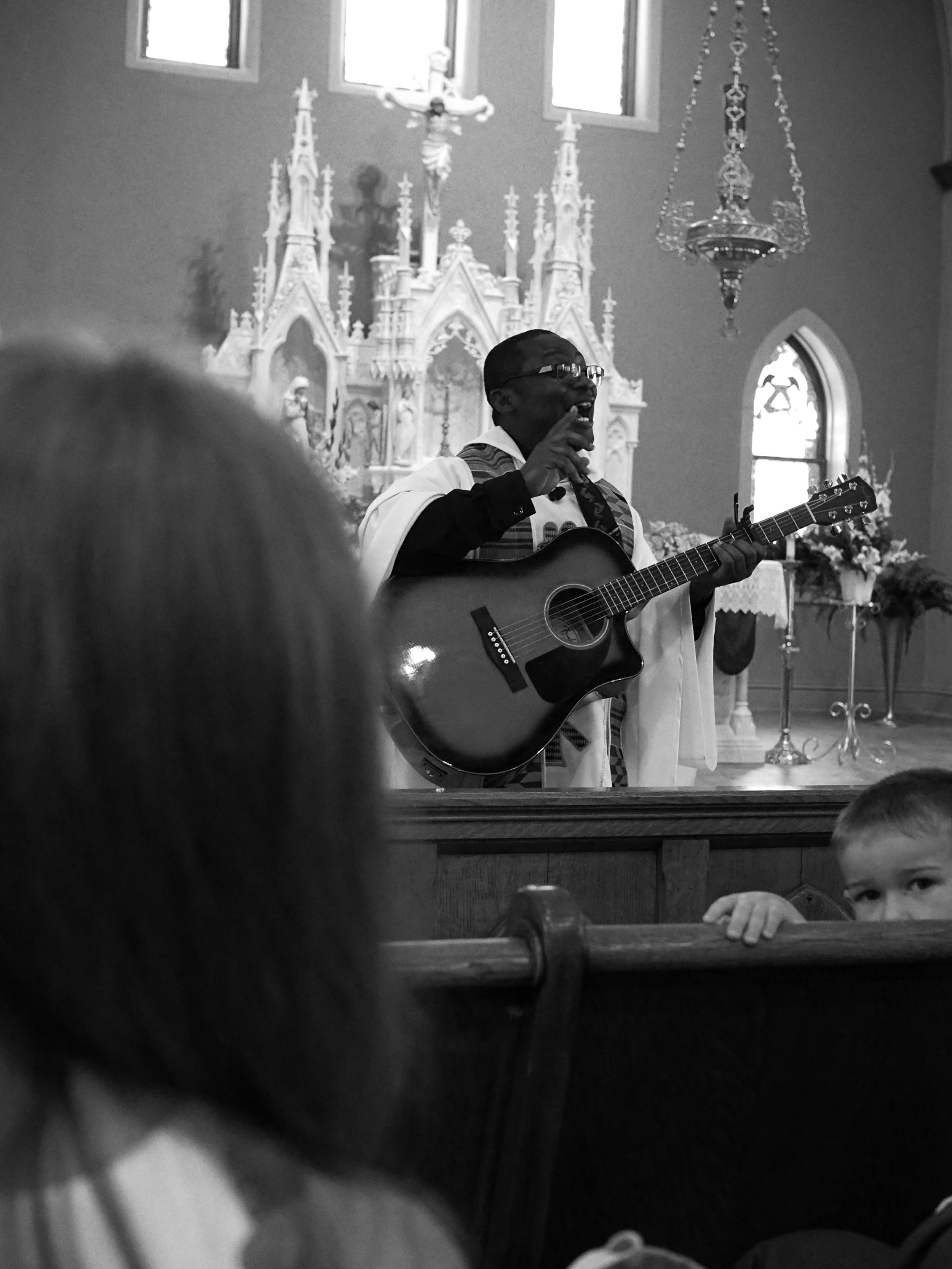 Singing Priest. Creston, Iowa