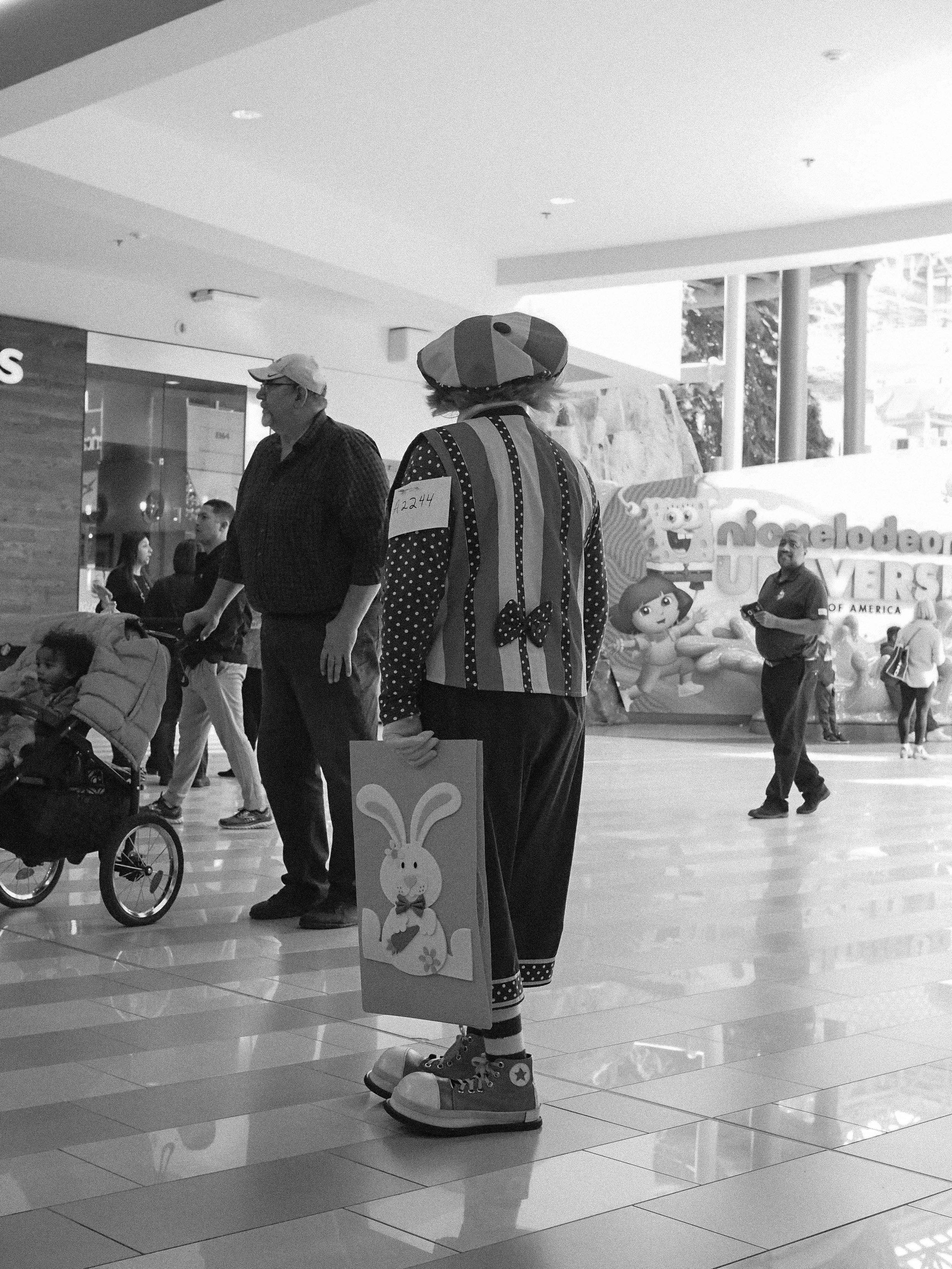 Clown in the Mall. Minnesota.