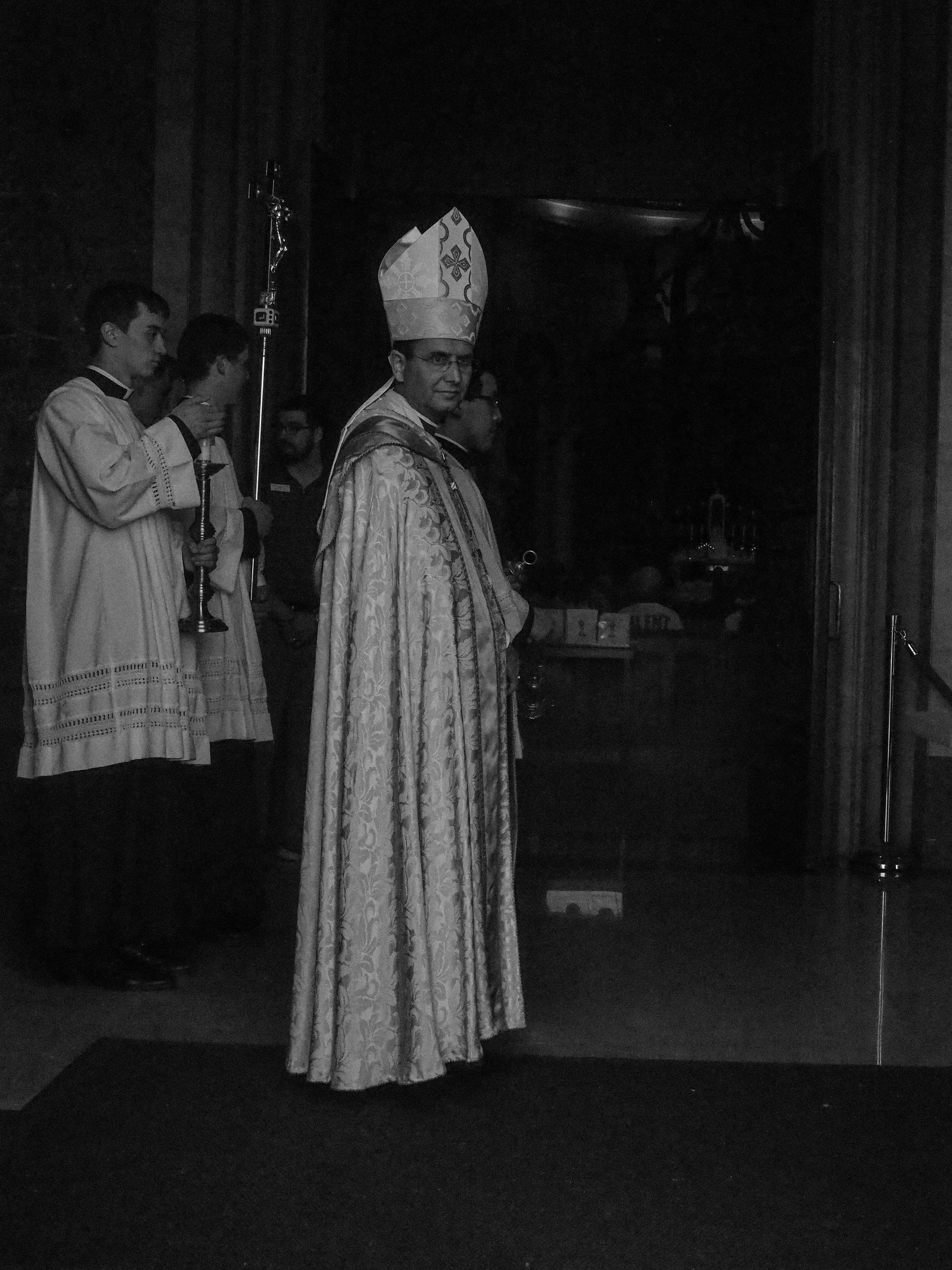 The Bishop.Rosary Procession. Saint Paul, MN.