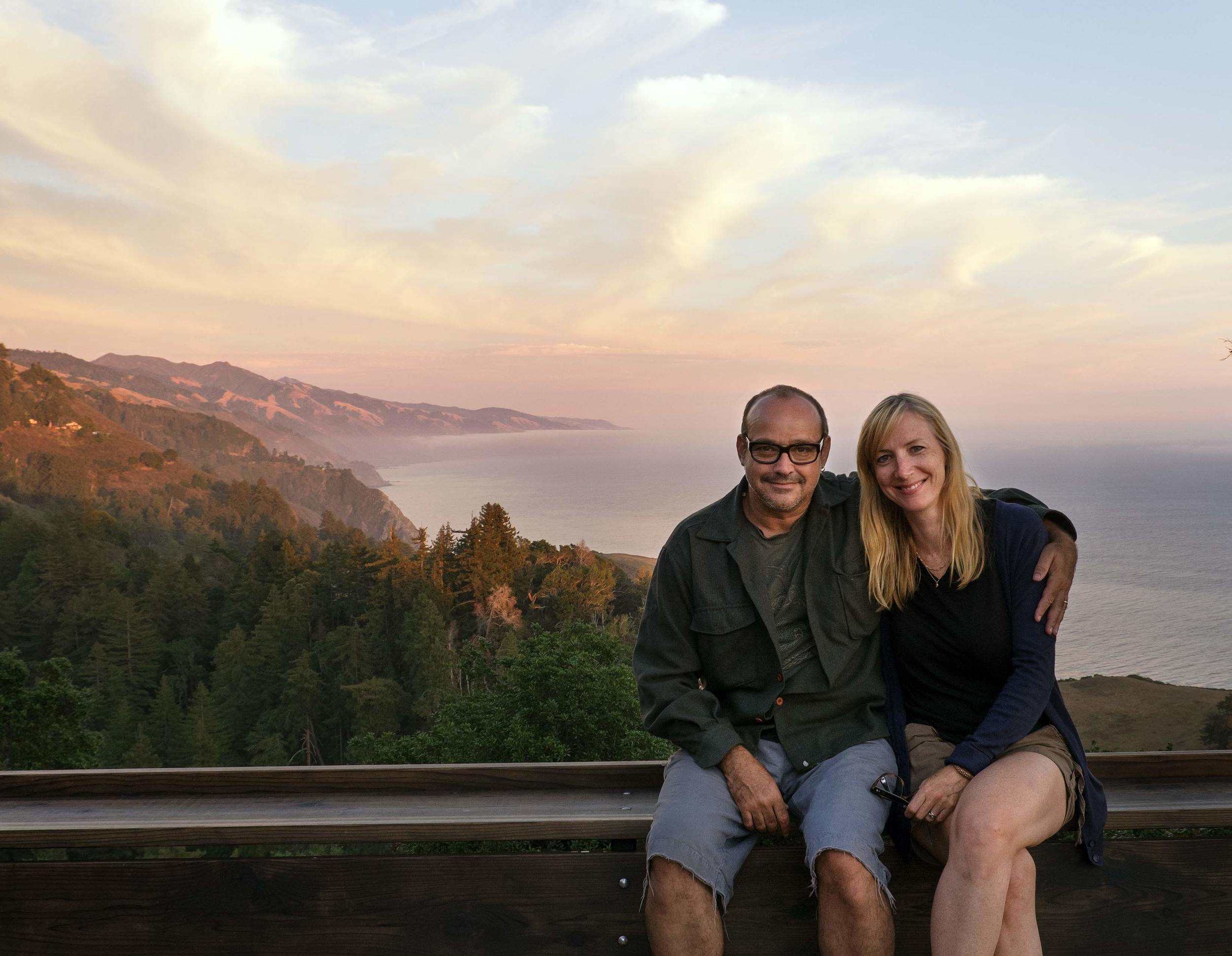 Here I am with my wife Laurie not at home in Big Sur.