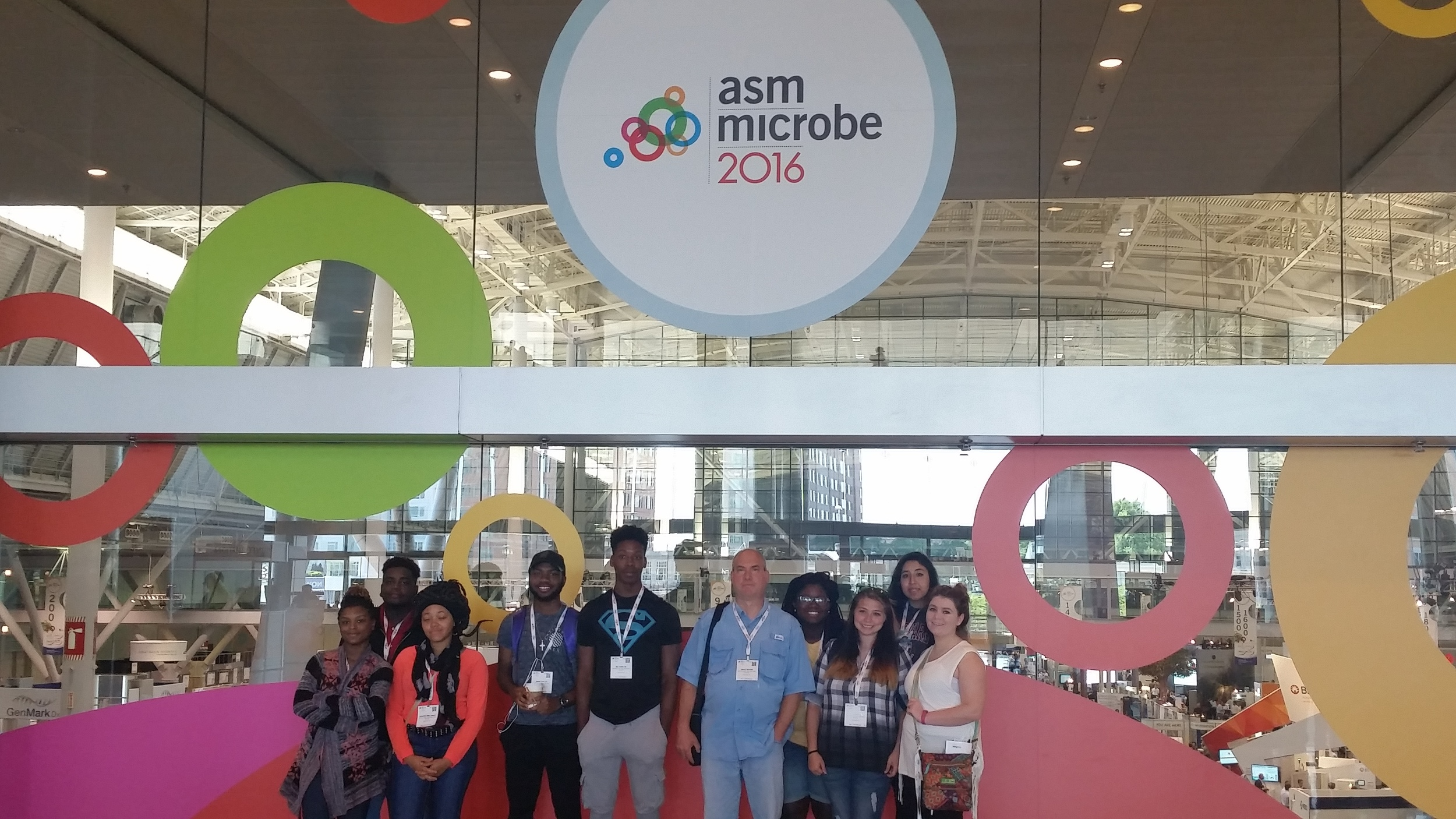 Falcon Biomanufacturing Students in the BCEC Main Hall