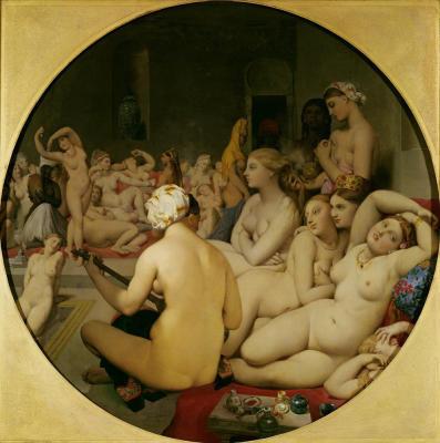 Women in a Turkish Bath House.