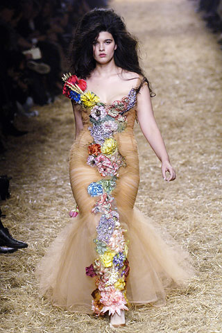 Crystal Renn on the runway @Jean Paul Gaultier's 2010 Spring Collection Show