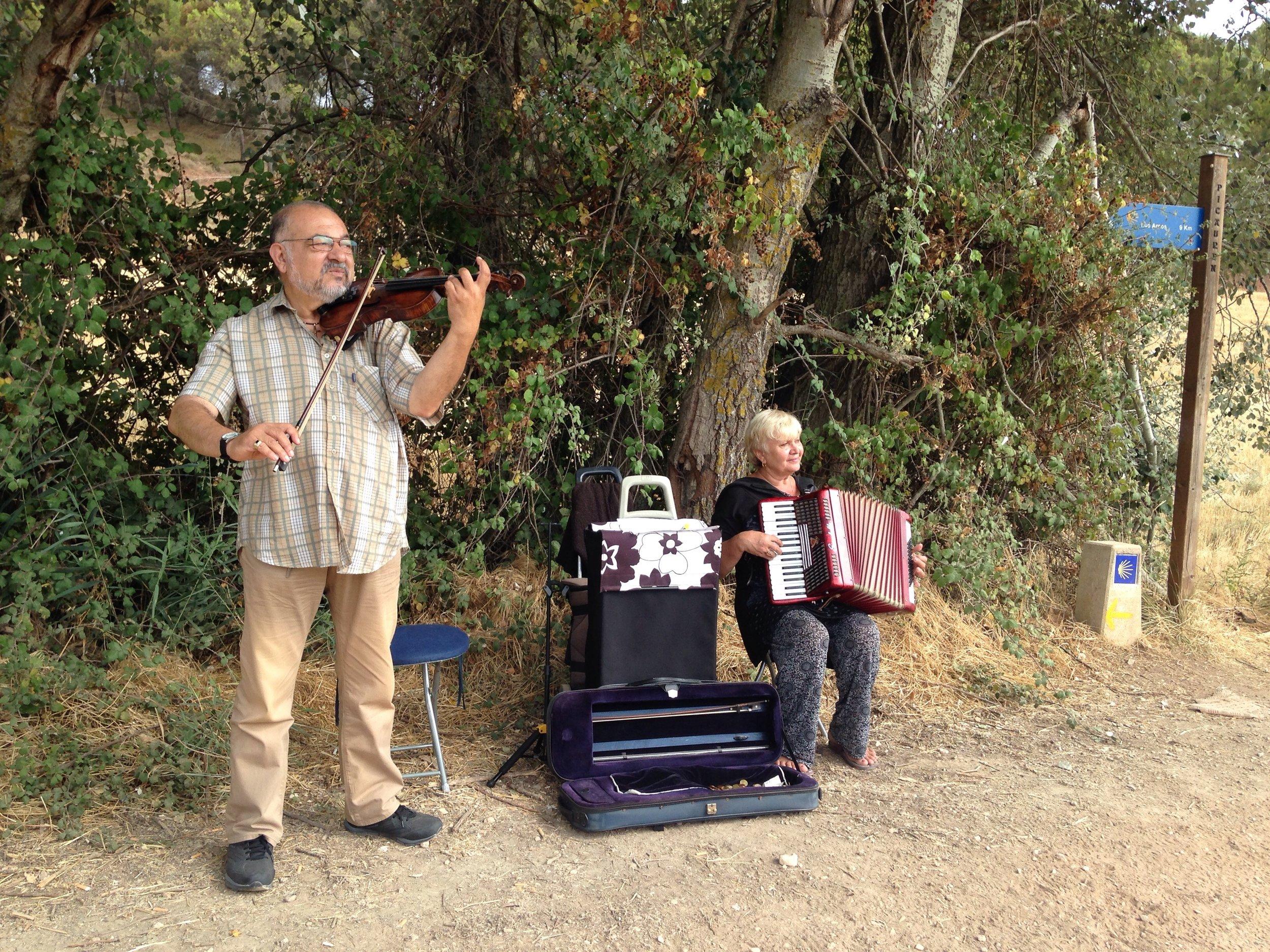 Musicians along the Camino