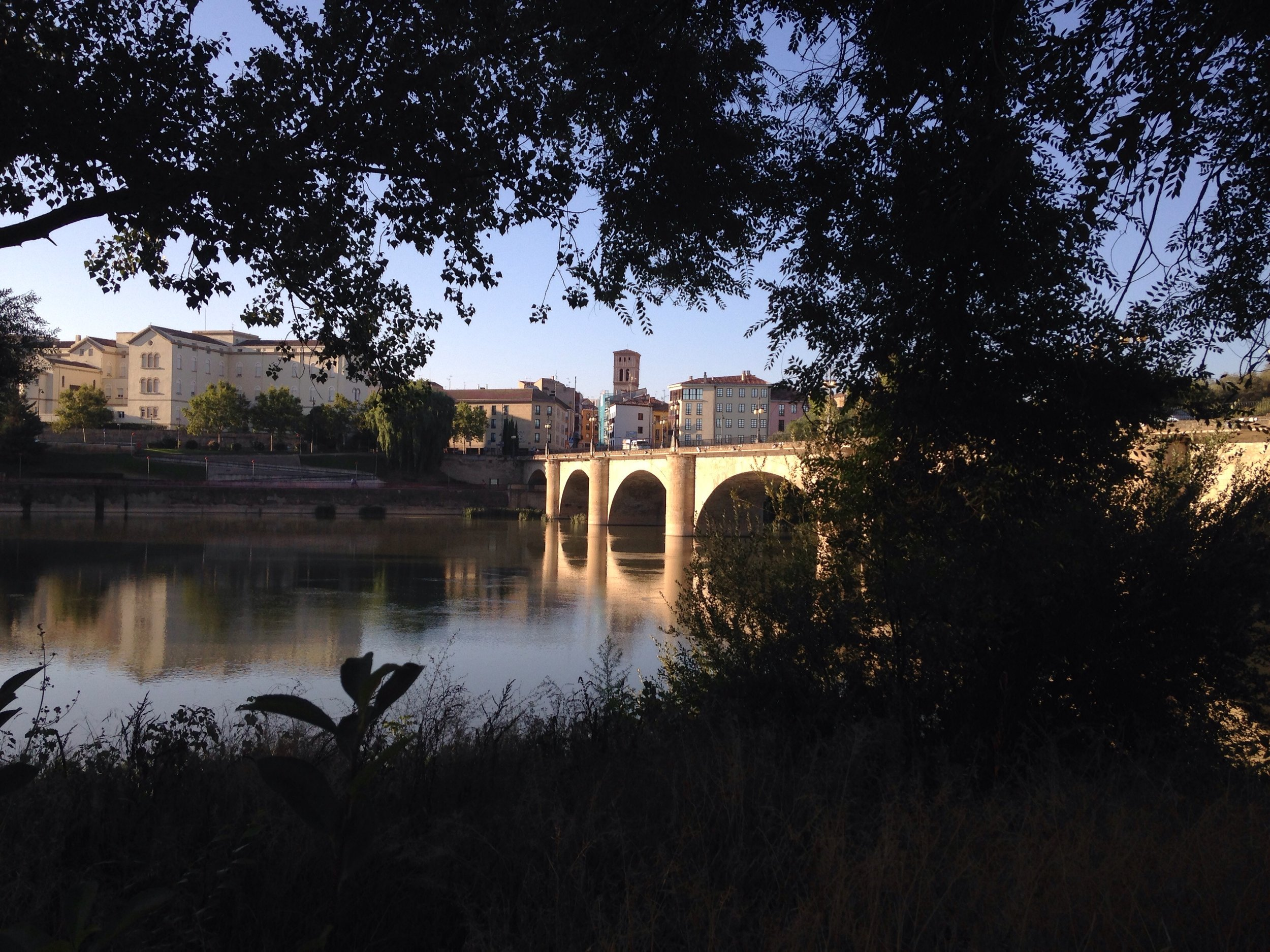 The approach to Logrono