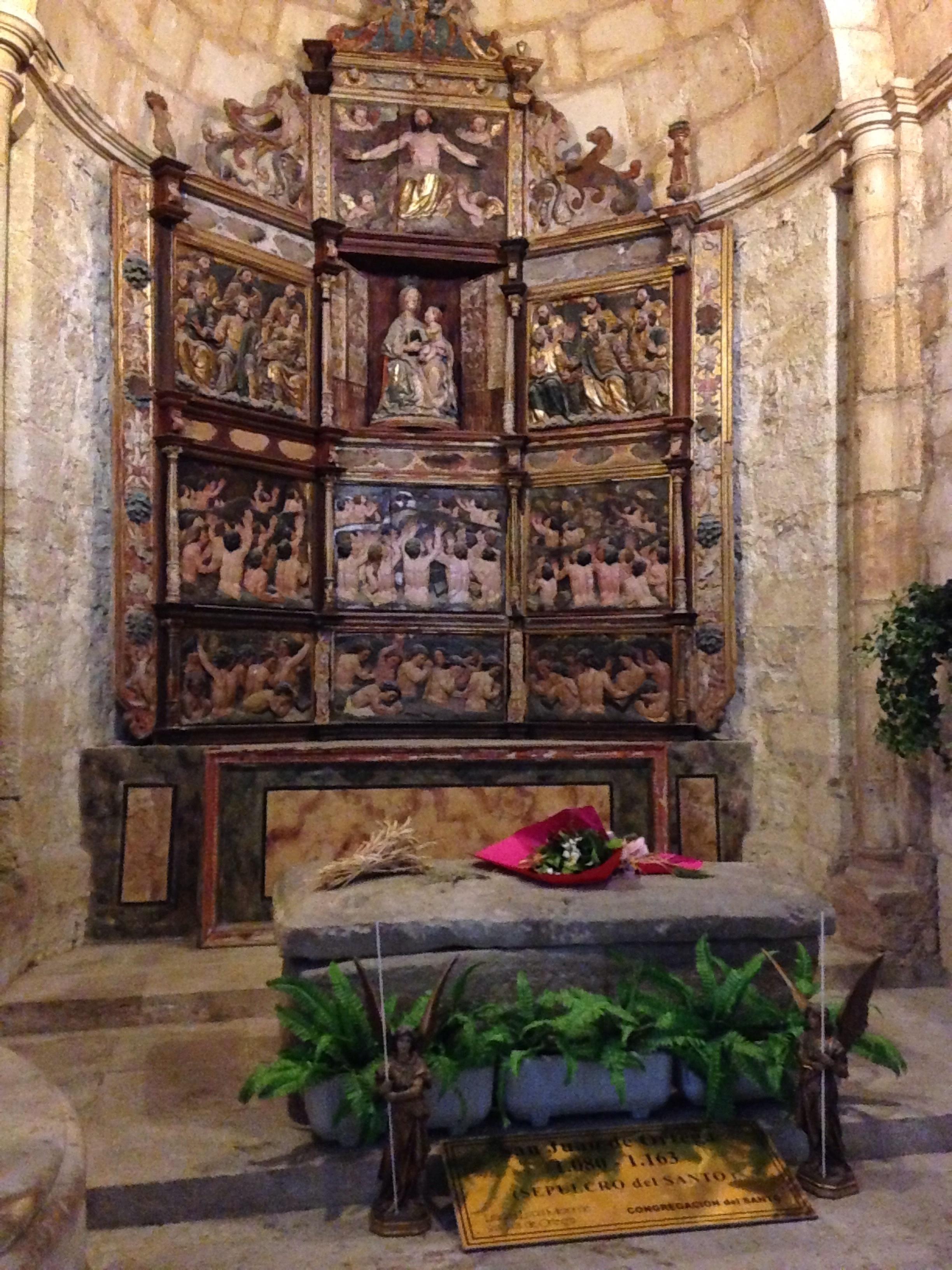 San Juan de Ortega's simple tomb. In the 1100s he dedicated his life to loping pilgrims reach Santiago in one piece