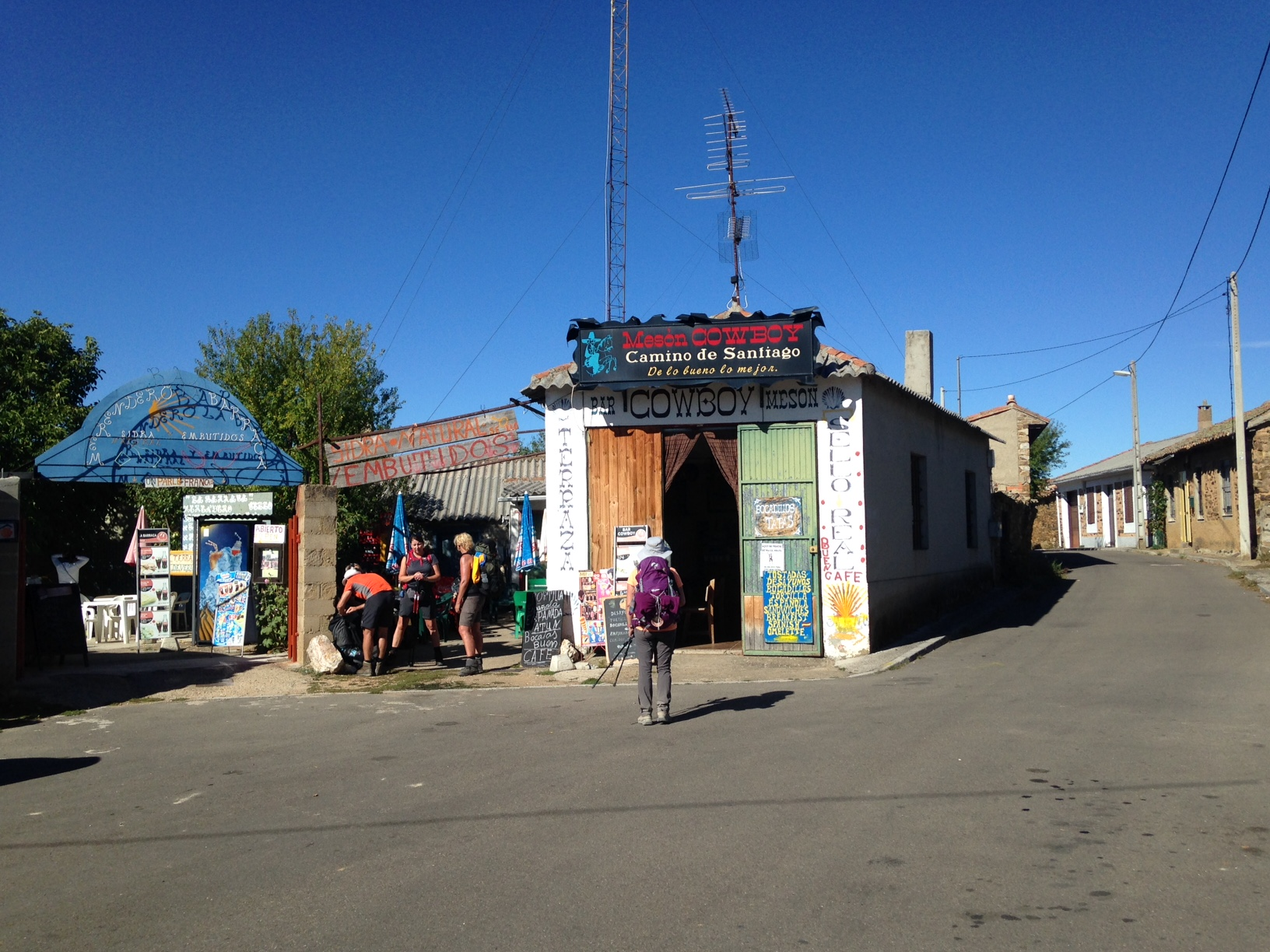 Besides Elvis Bar in Religos, Cowboy Bar in the sleepy Maragato town El Ganso was a favorite.  The inside is like the prop department of a spaghetti western