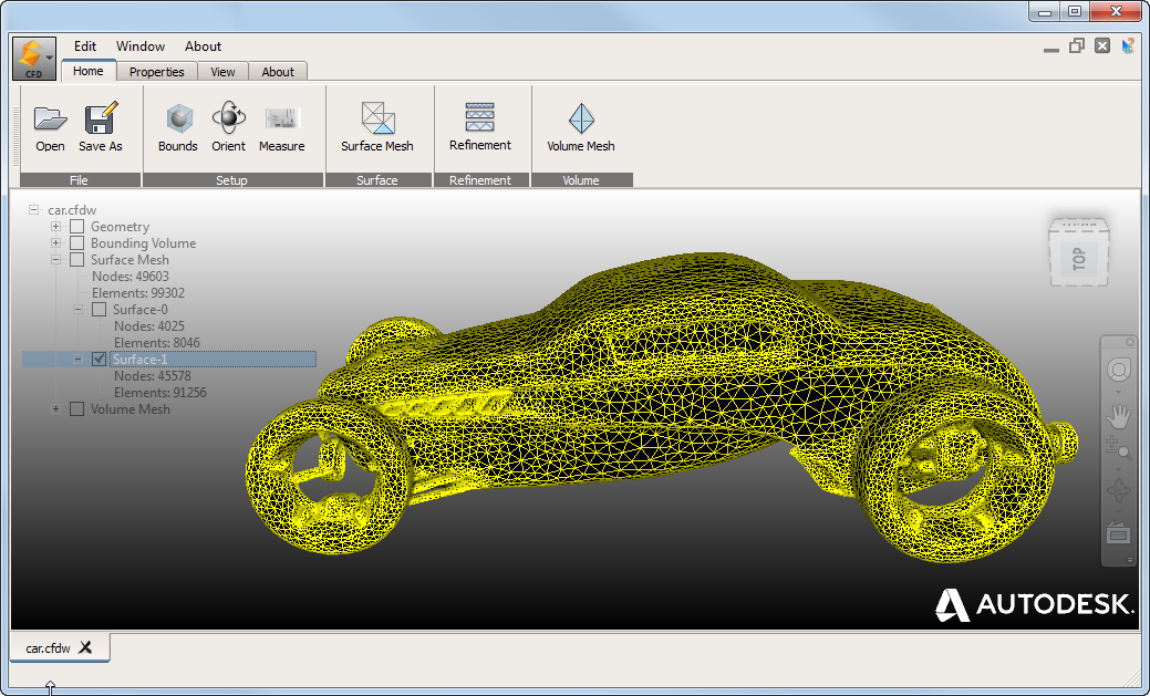 Autodesk Surface Wrap  by Autodesk - External Flow Geometry Mesh Tool.  I  mage License