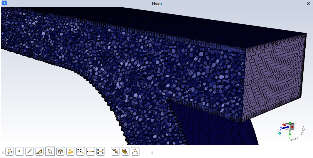 "Figure 10: ANSYS Fluent View of Automatically Displayed ""Cut Mesh"""