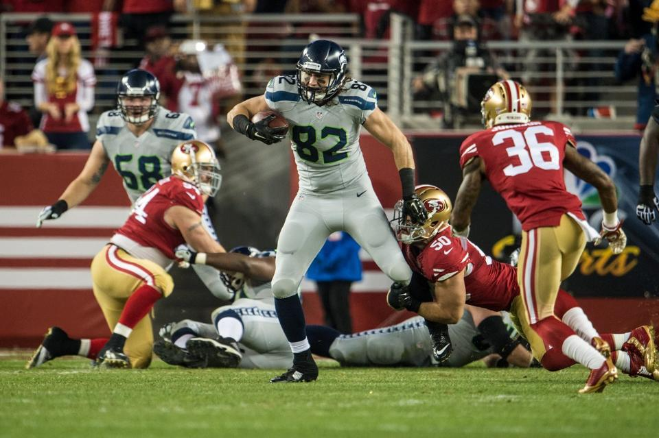 Seahawks Tight End Luke WiLLson 4 catches for 39 yards vs. 49ers.
