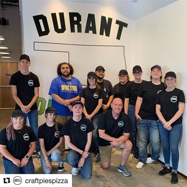 Show the crew over @craftpiespizza in Durant some love tomorrow!  #grandopening #pizzaeveryday