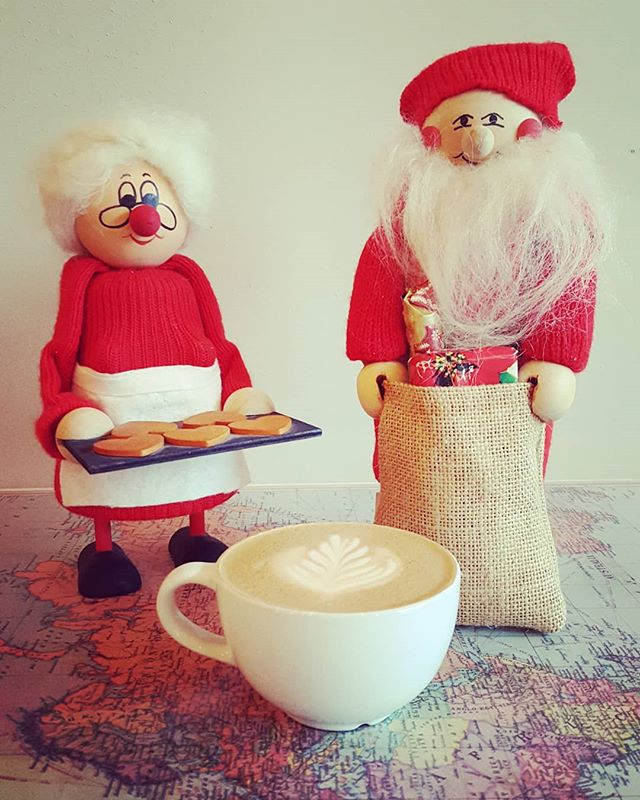 New seasonal drinks on monday! Mr. & Mrs. Claus can barely contain their excitement!
