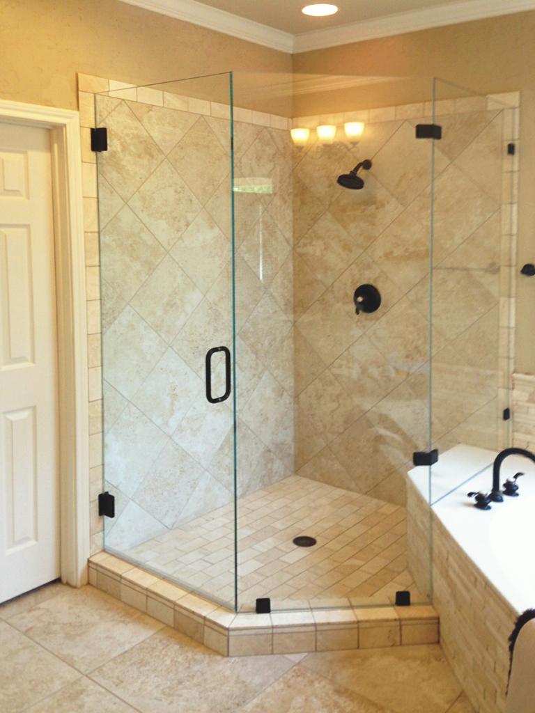 Custom Neo-Angle Glass Shower Enclosures