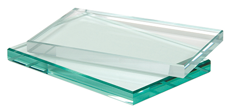 Low-iron glass (top) is available in standard and ShowerGuard versions.