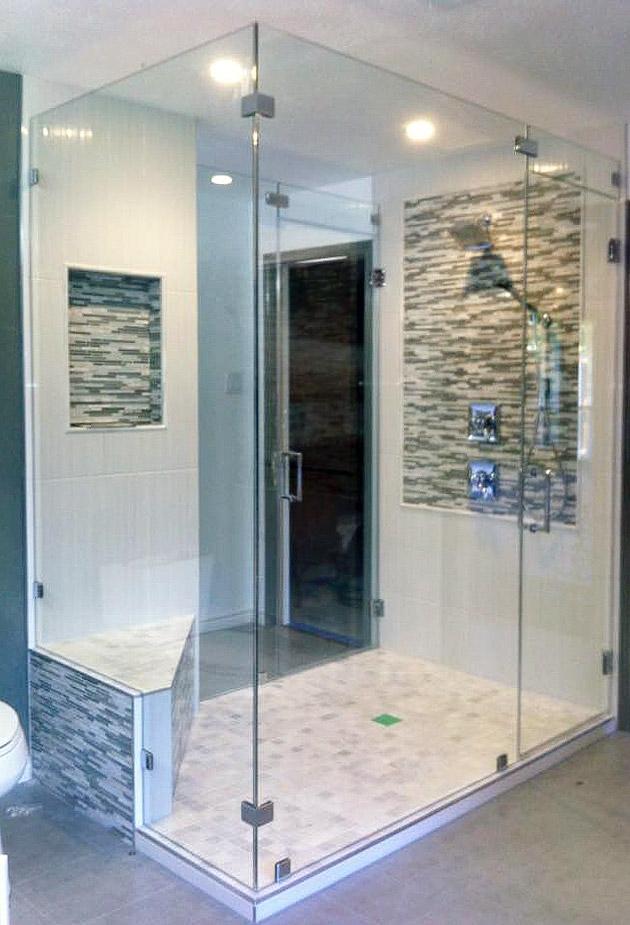 Low-Iron Glass Shower Enclosure