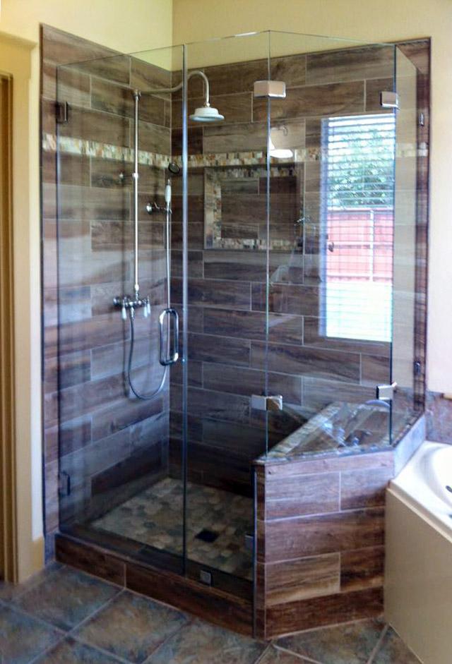 Custom Neo-Angle Frameless Shower