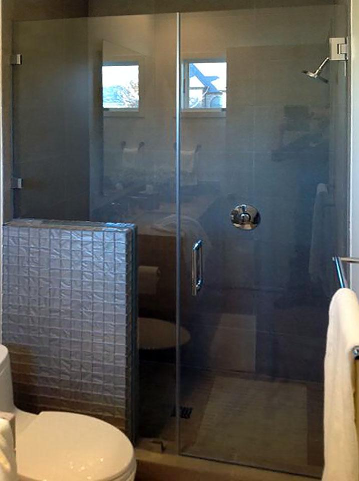 Inline Shower Door and Custom Cut Panel