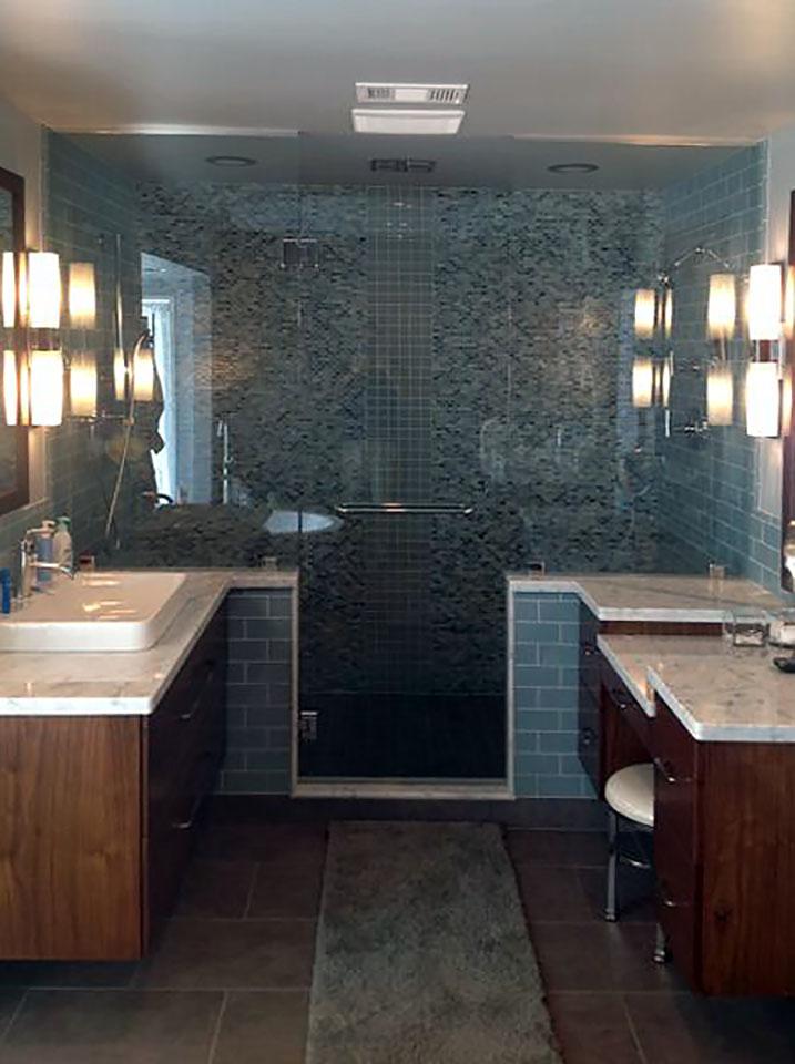 Inline Glass Shower Enclosure