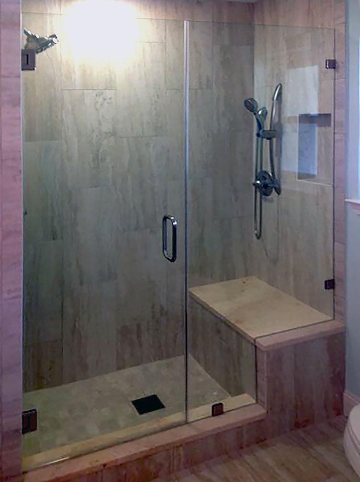 Custom Cut Inline Frameless Shower