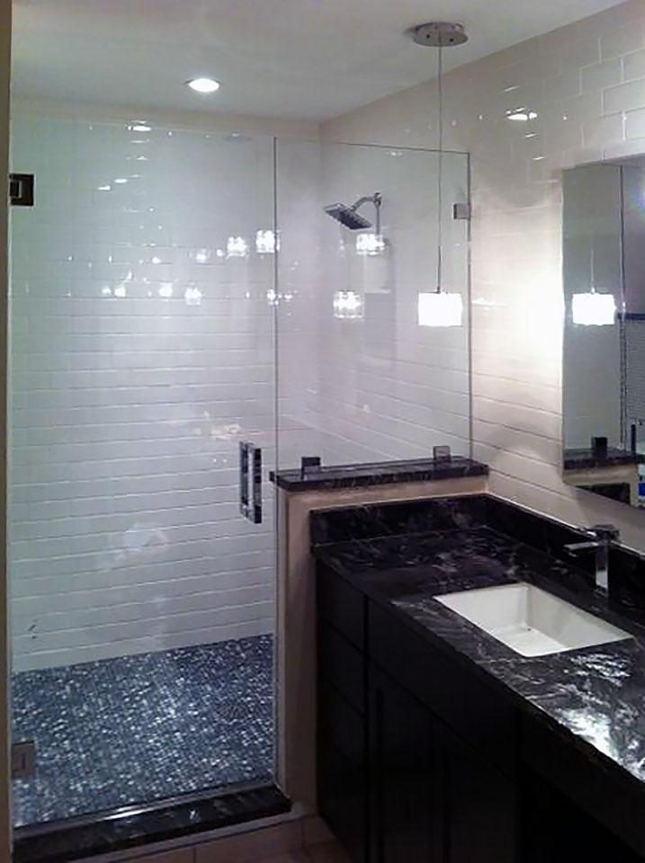 Inline Shower Door and Half Wall Panel