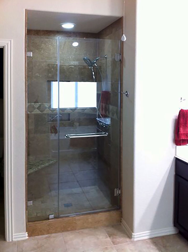 Inline Glass Shower Stall Door with Side Panel