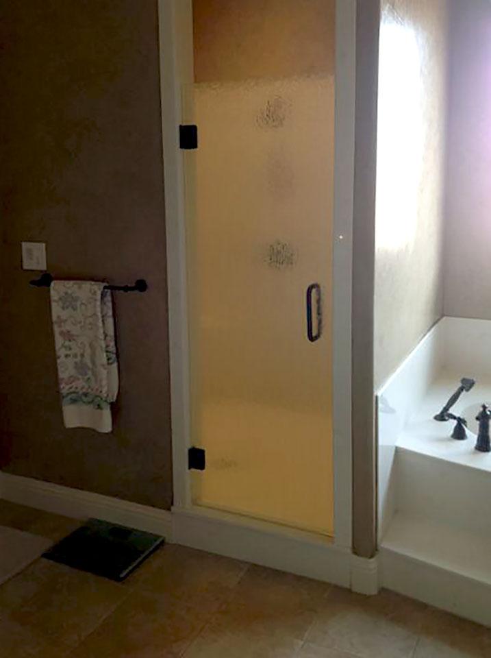 Small Single Shower Door