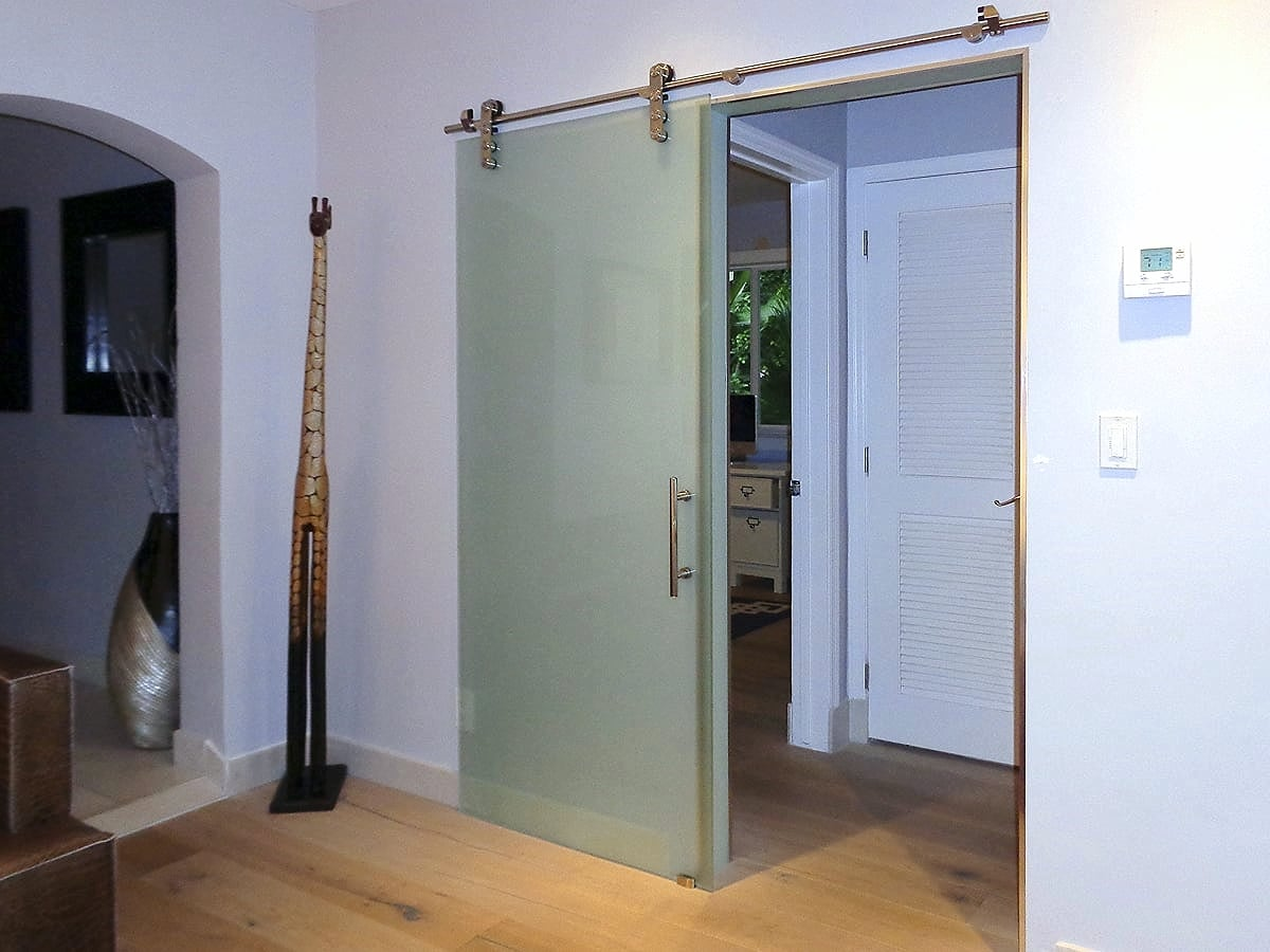 Architectural Glass Barn Doors
